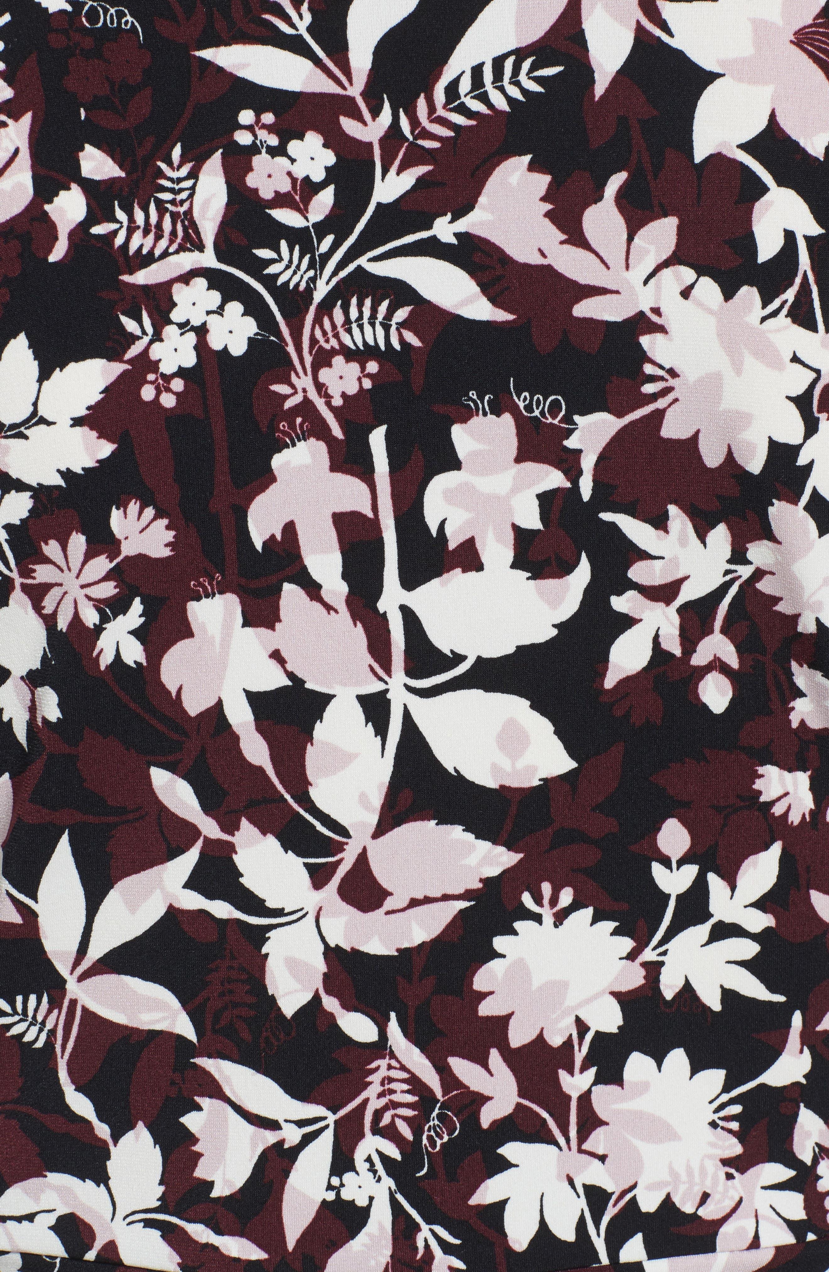 Palace Vines Faux Wrap Top,                             Alternate thumbnail 10, color,