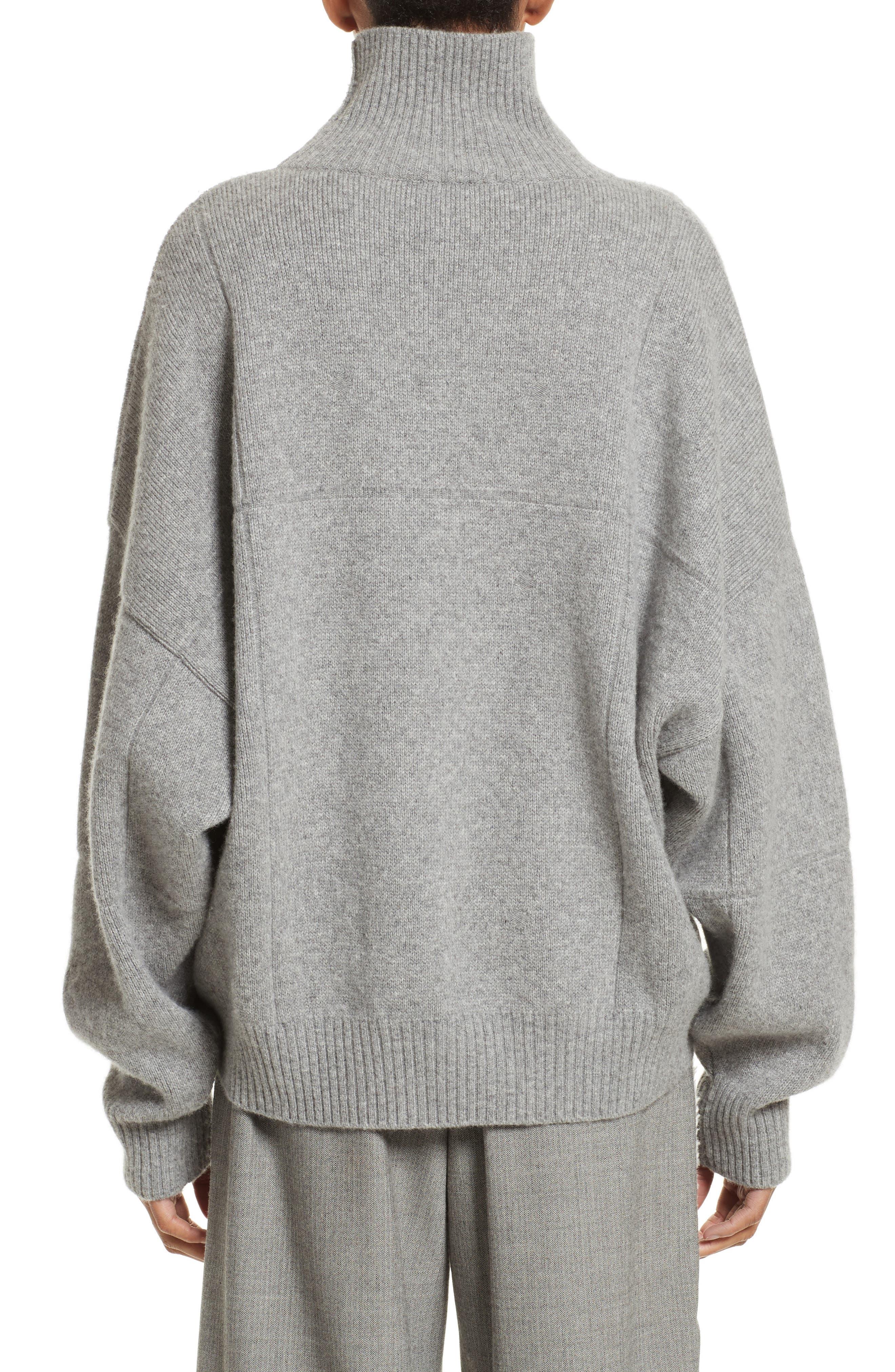 Concrete Wool Turtleneck Sweater,                             Alternate thumbnail 2, color,                             050