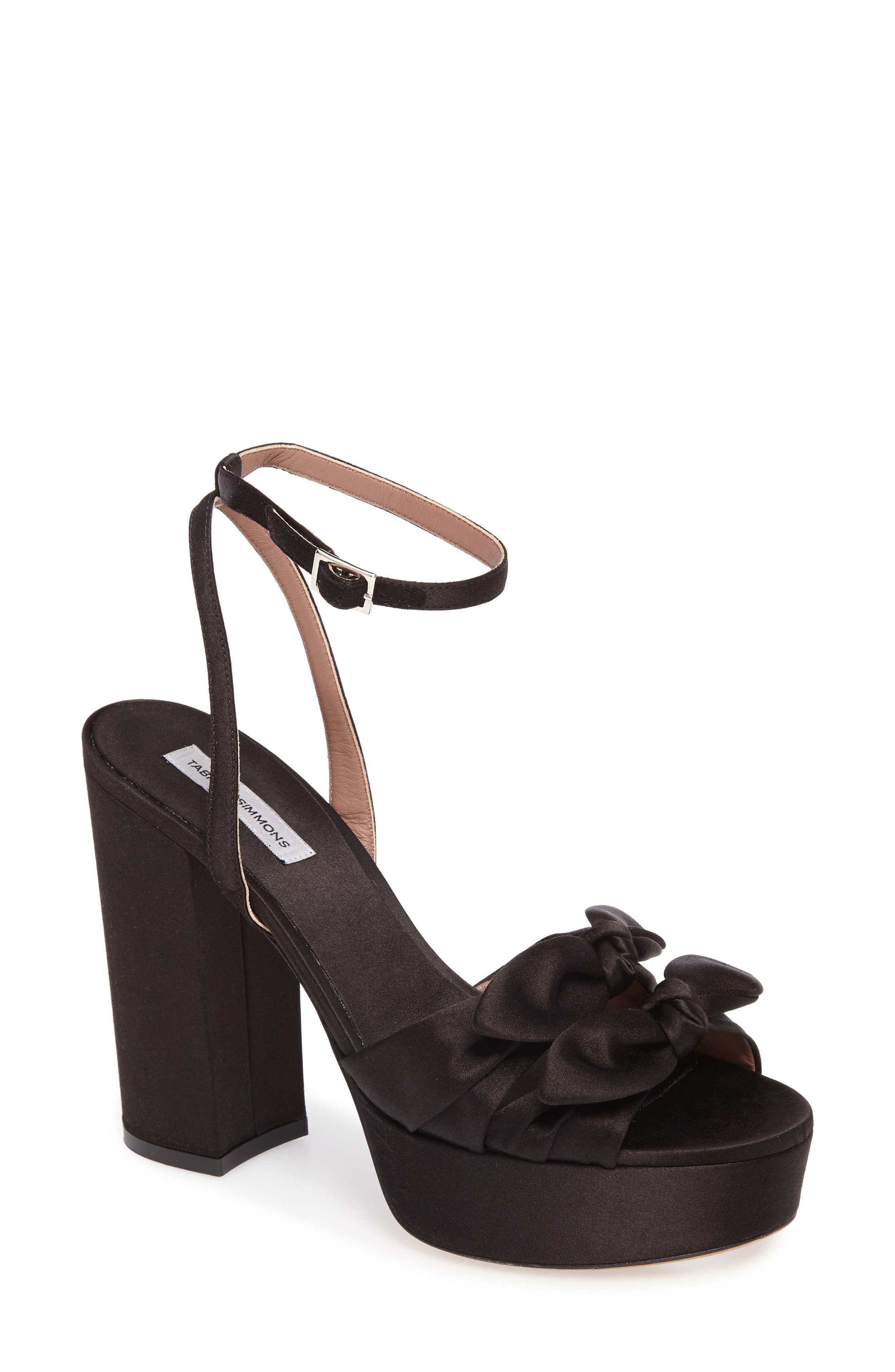 Jodie Platform Sandal,                             Main thumbnail 1, color,                             001
