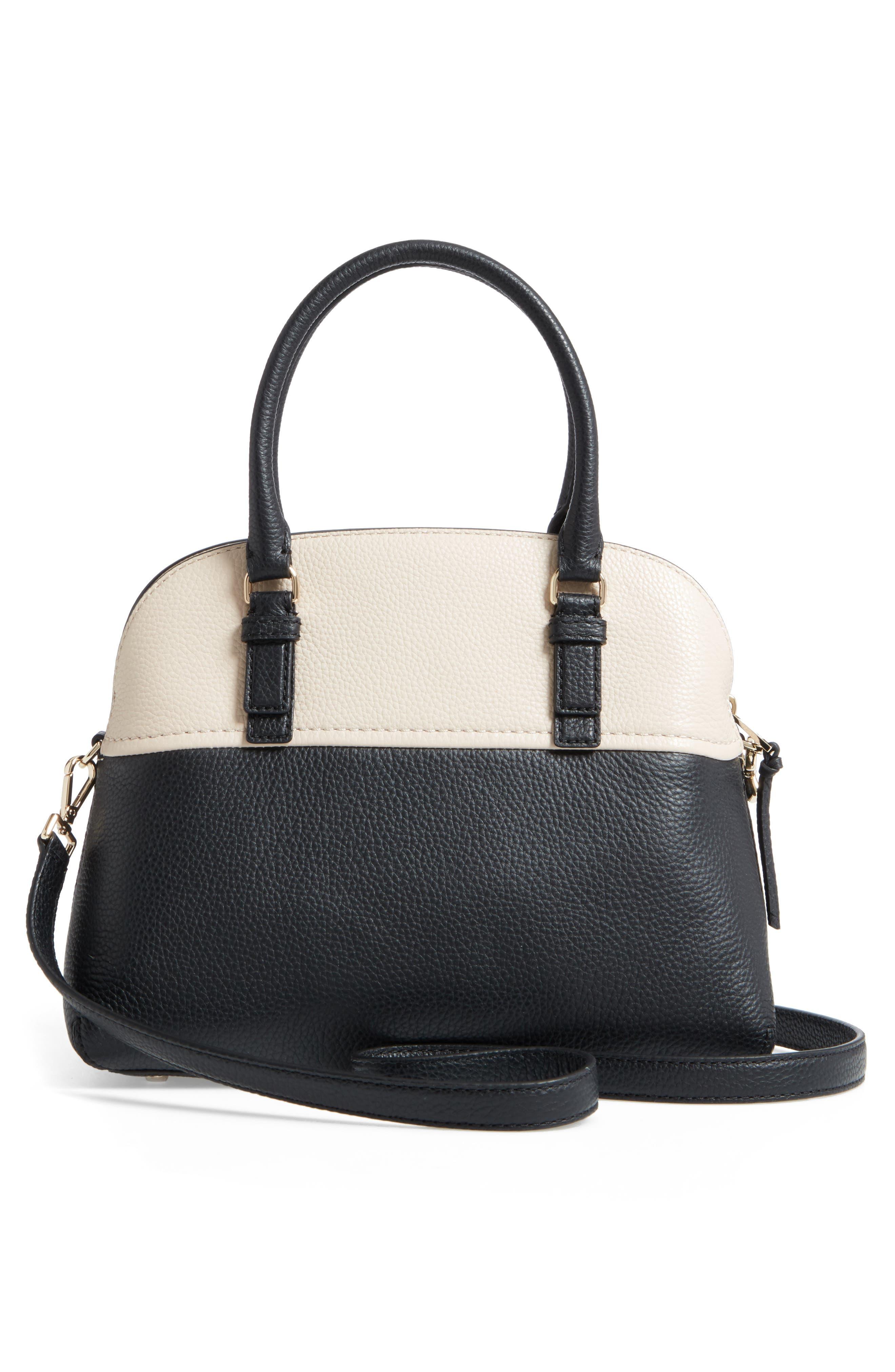 jackson street lottie leather satchel,                             Alternate thumbnail 8, color,