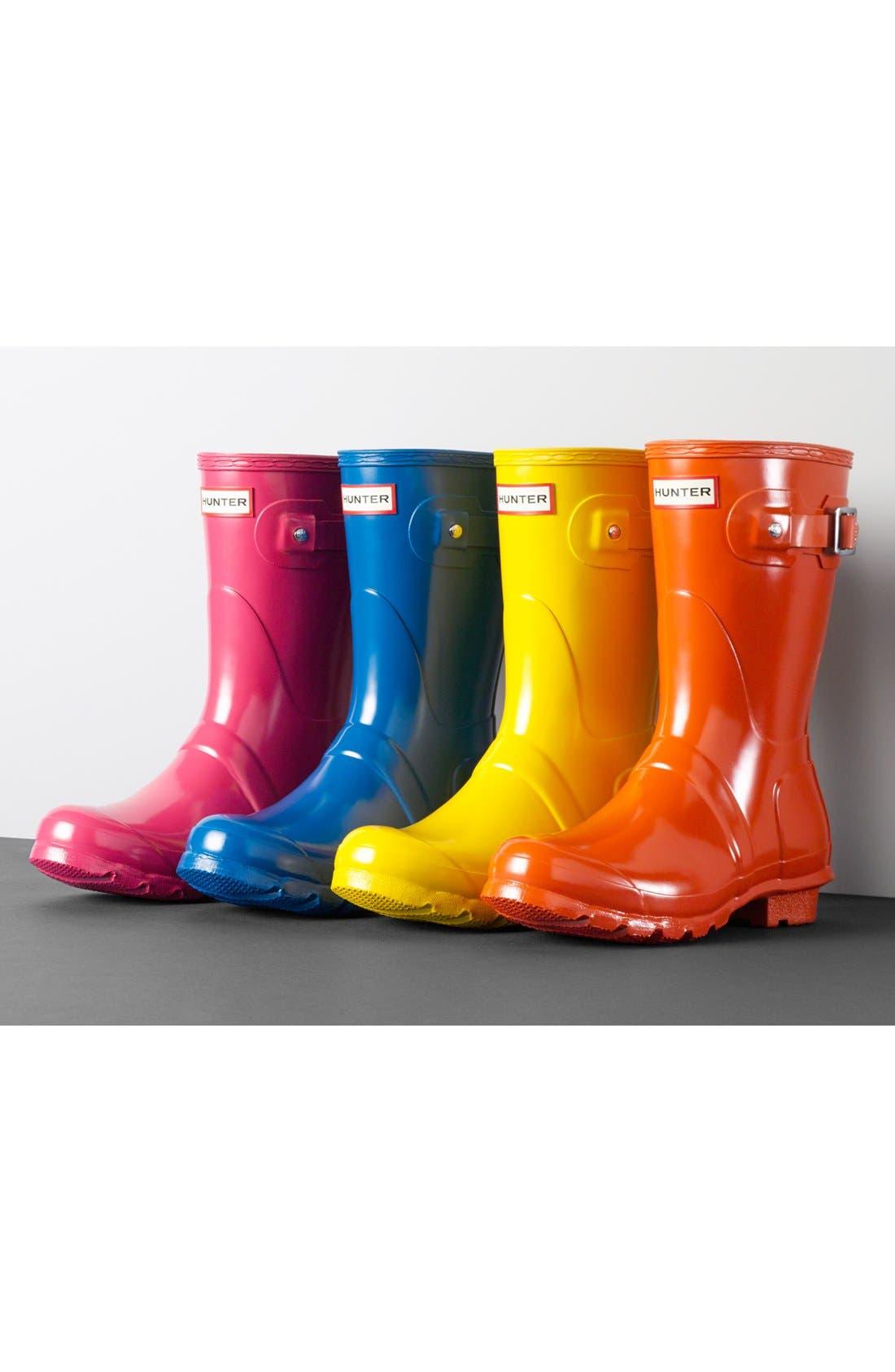 Original Short Gloss Rain Boot,                             Alternate thumbnail 8, color,                             HYPER PINK