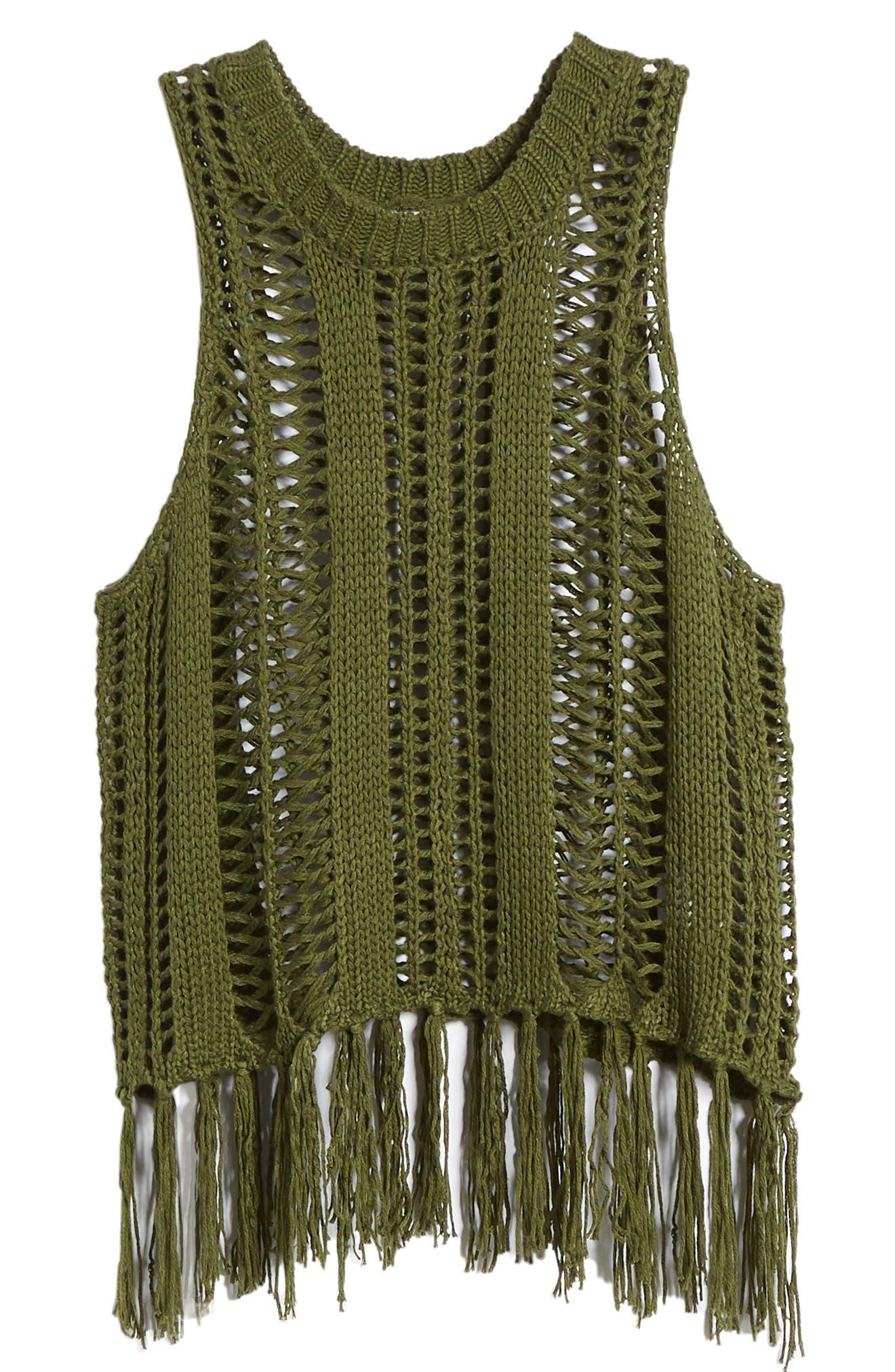 Fringe Sweater Tank,                             Alternate thumbnail 7, color,                             329