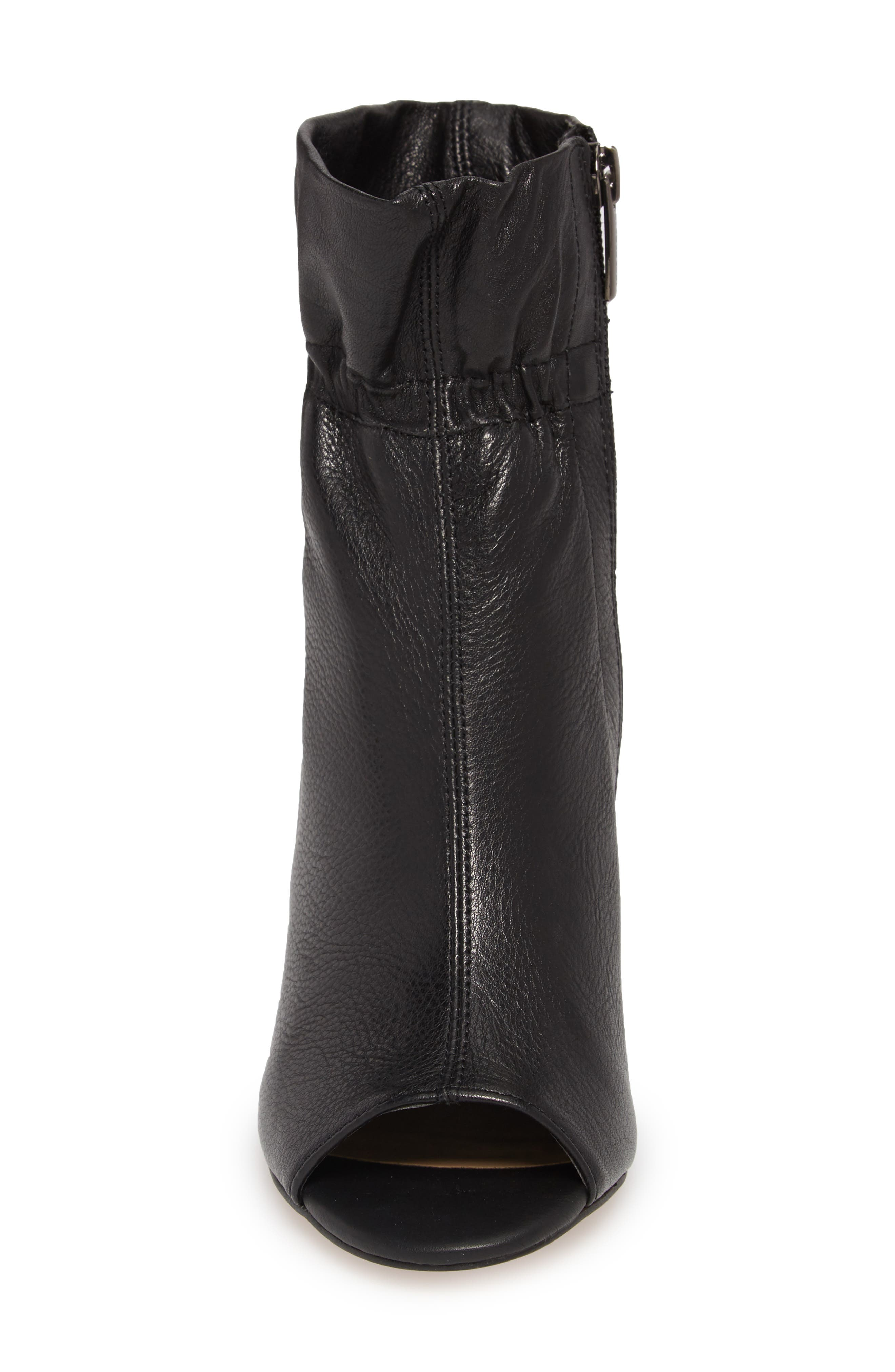 Addiena Bootie,                             Alternate thumbnail 4, color,                             BLACK LEATHER