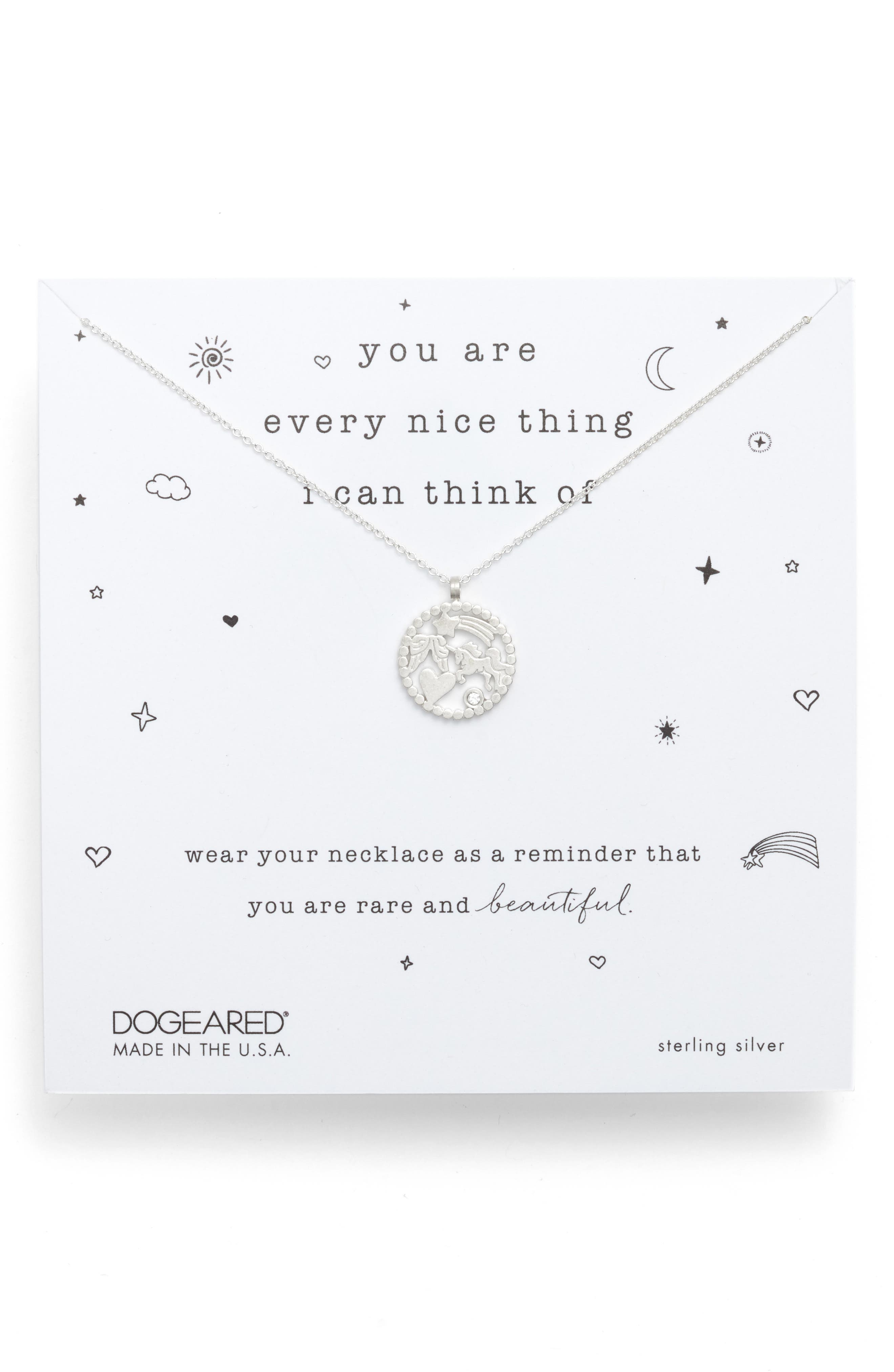 DOGEARED You Are Every Nice Thing Magic Pendant Necklace in Sterling Silver