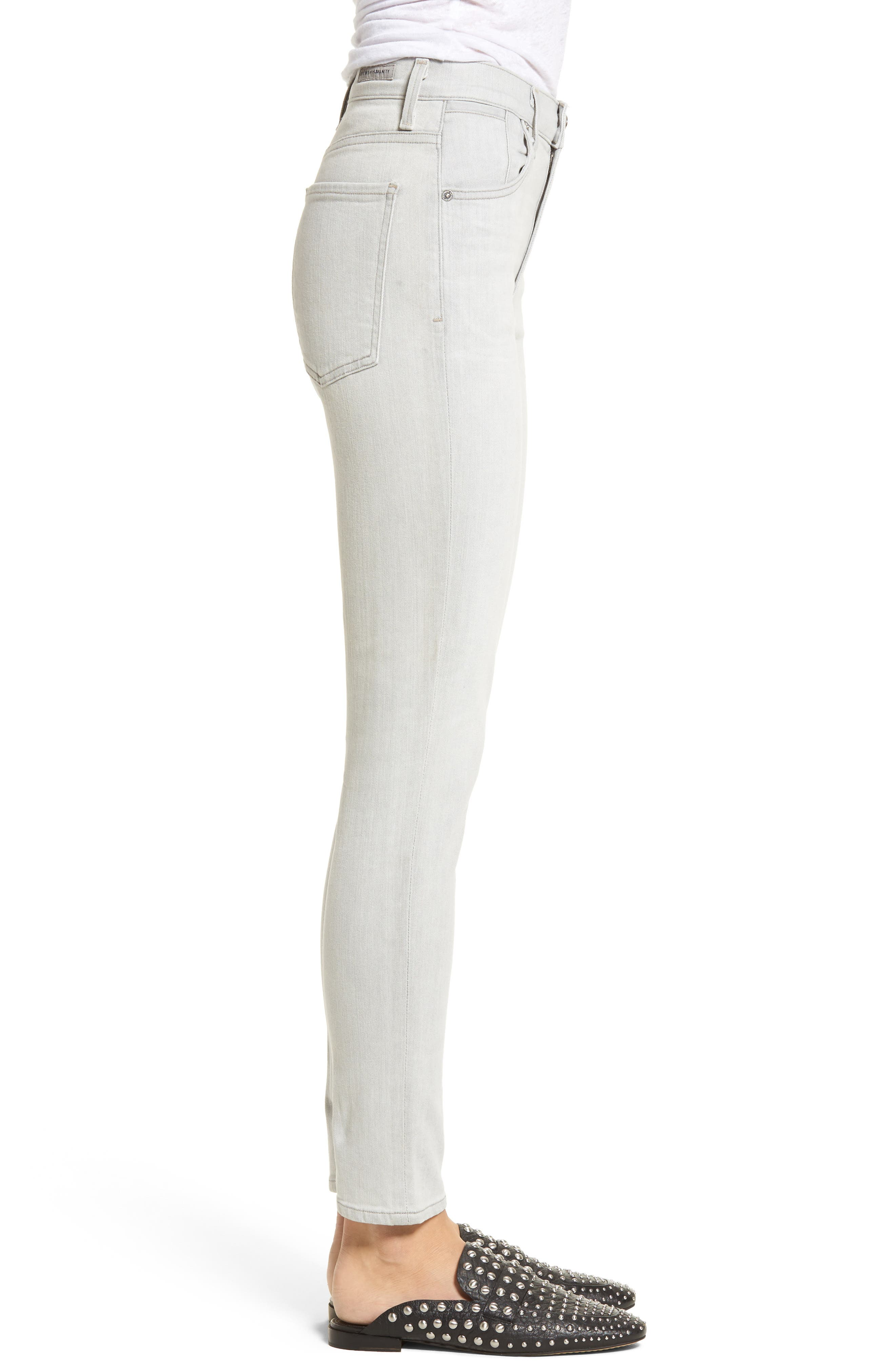 Carlie High Waist Ankle Skinny Jeans,                             Alternate thumbnail 3, color,                             055