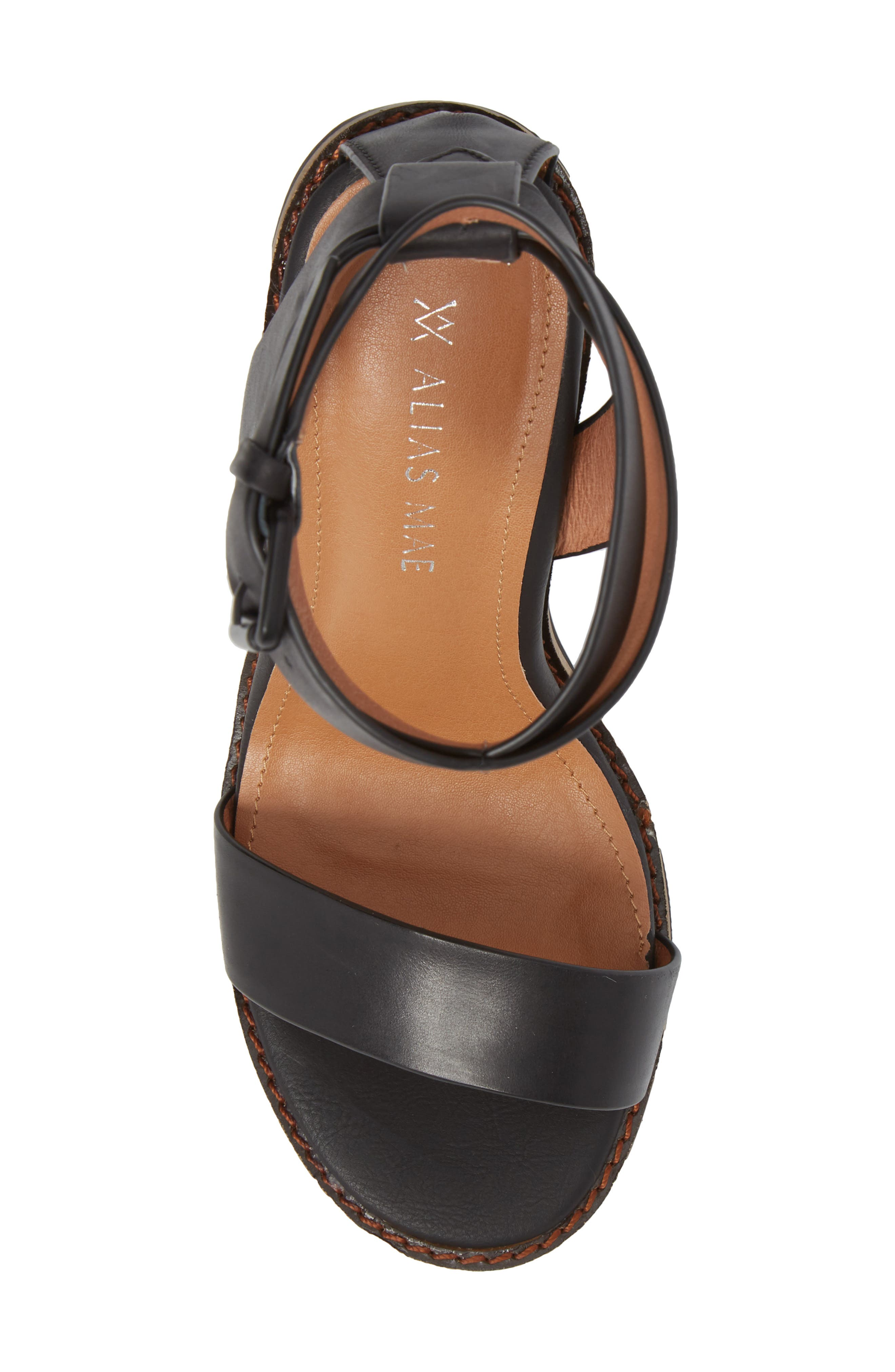 Calito Ankle Strap Sandal,                             Alternate thumbnail 5, color,                             001
