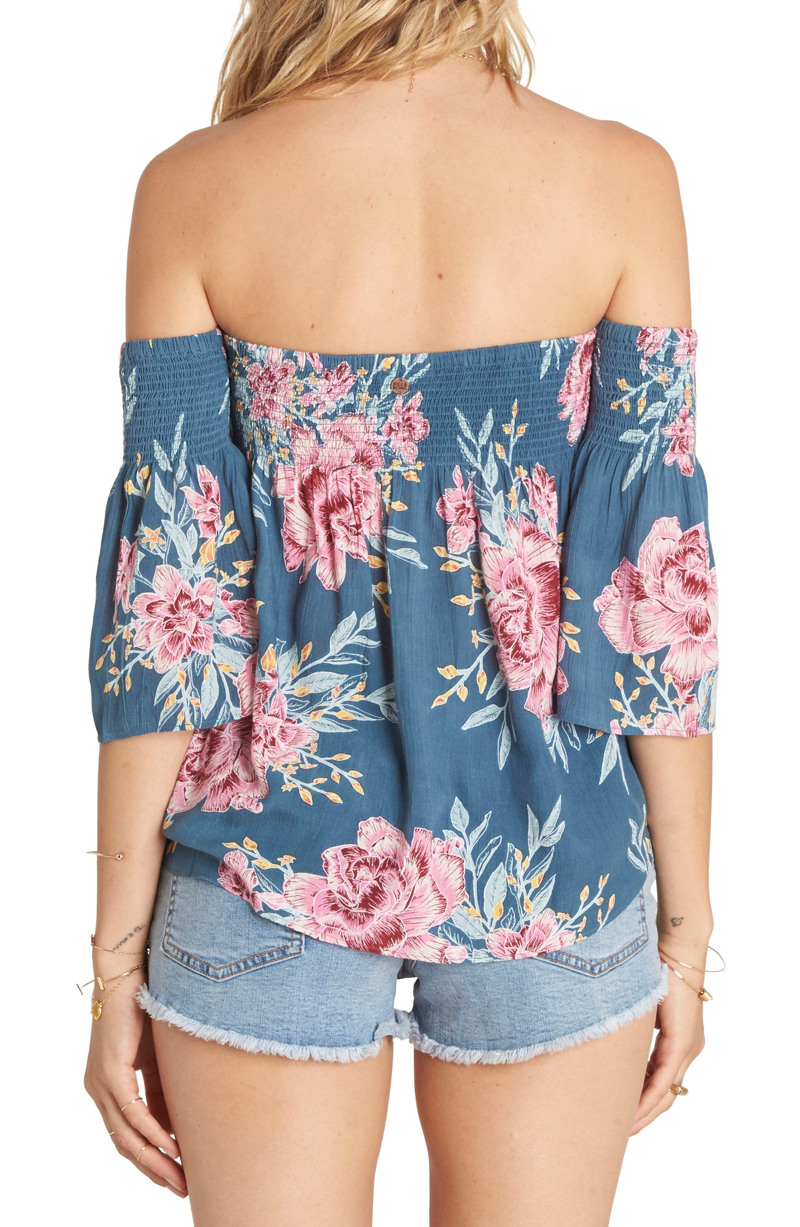 Free Flows Off the Shoulder Top,                             Alternate thumbnail 4, color,