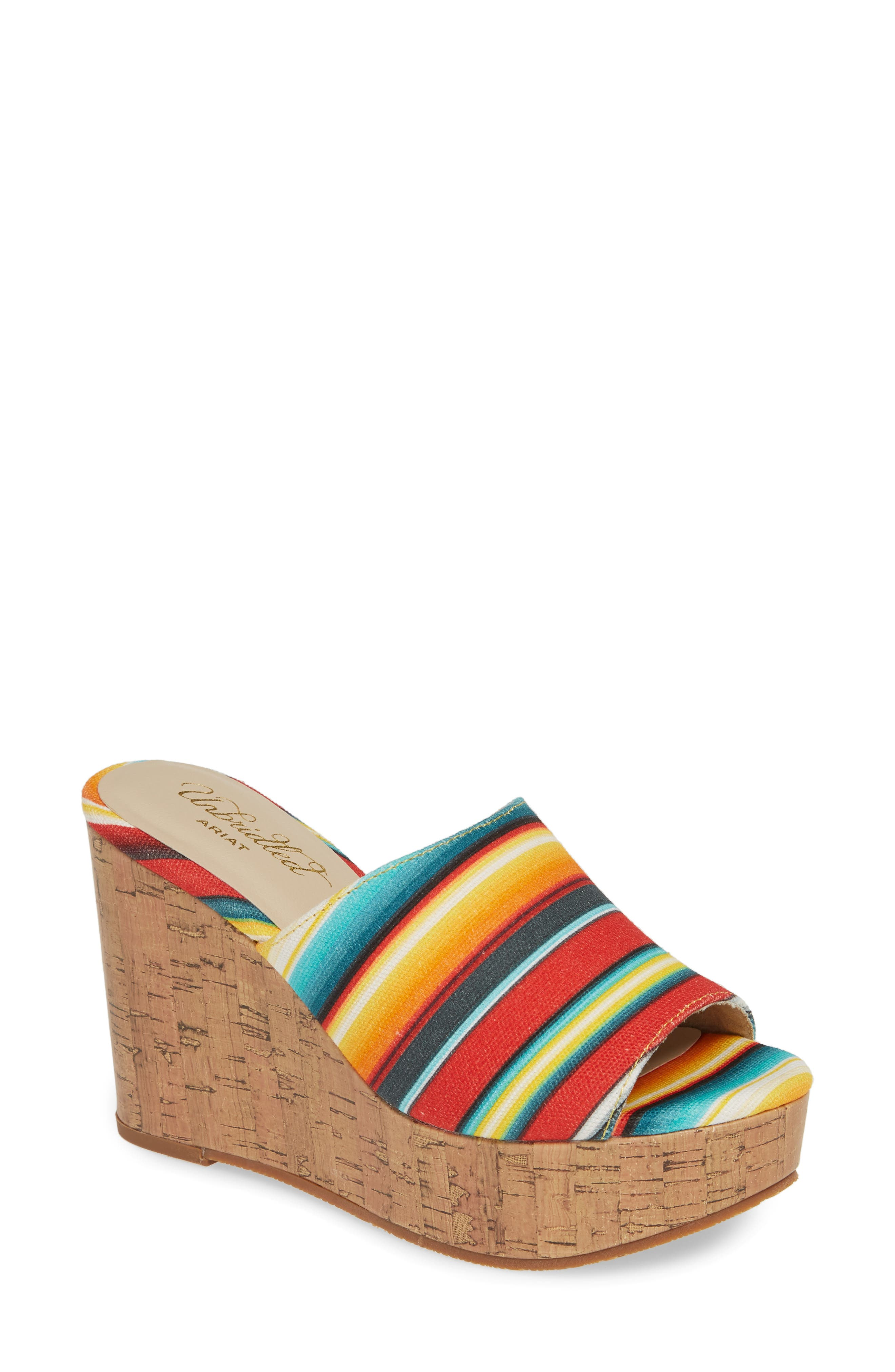 b12bef472b4 Ariat Layla Wedge Slide Sandal- Red