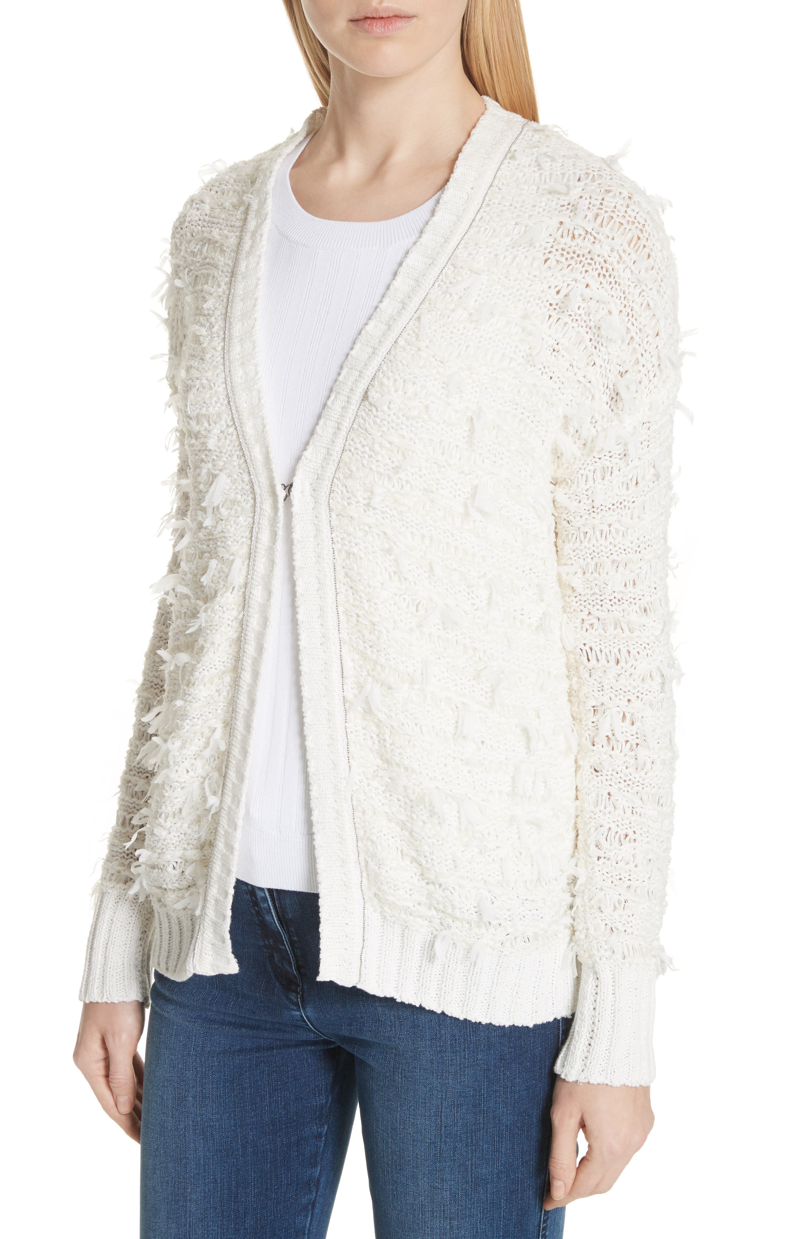 Tufted Knit Cardigan,                             Alternate thumbnail 4, color,                             900