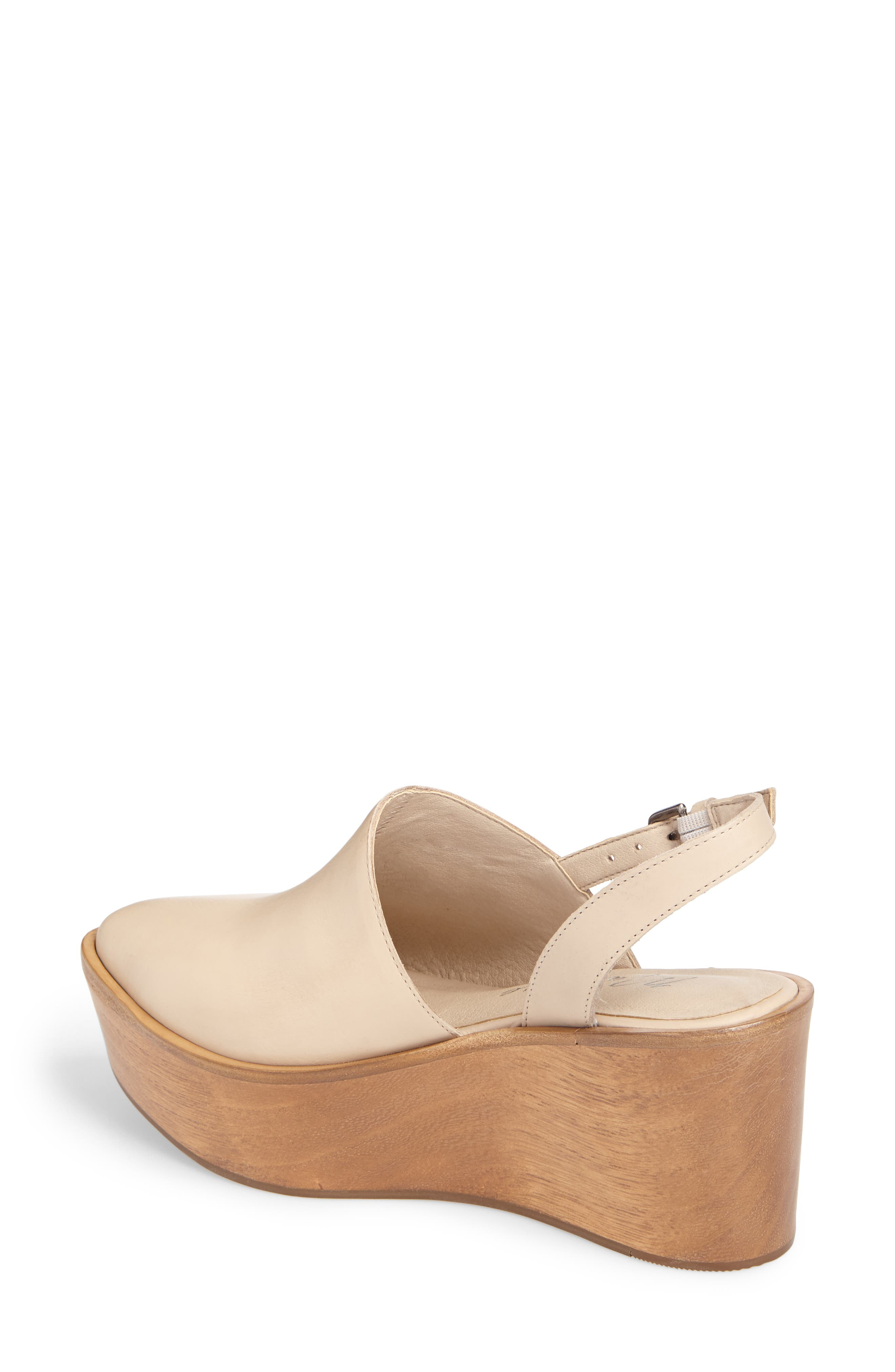 Eyals Slingback Platform Wedge Sandal,                             Alternate thumbnail 2, color,                             NATURAL LEATHER