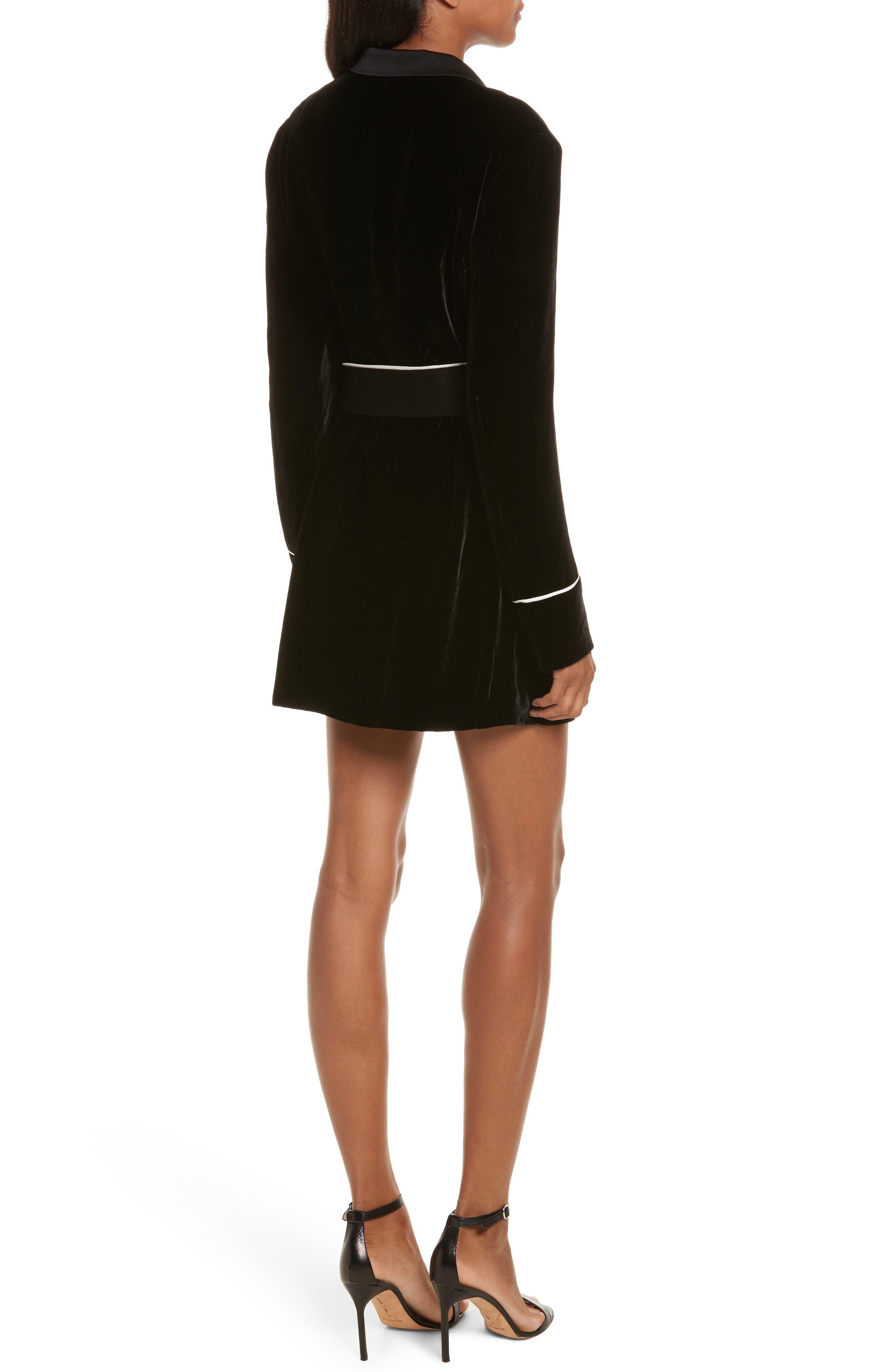 Diane Kruger x GREY Jason Wu Velvet Shirtdress,                             Alternate thumbnail 2, color,                             001