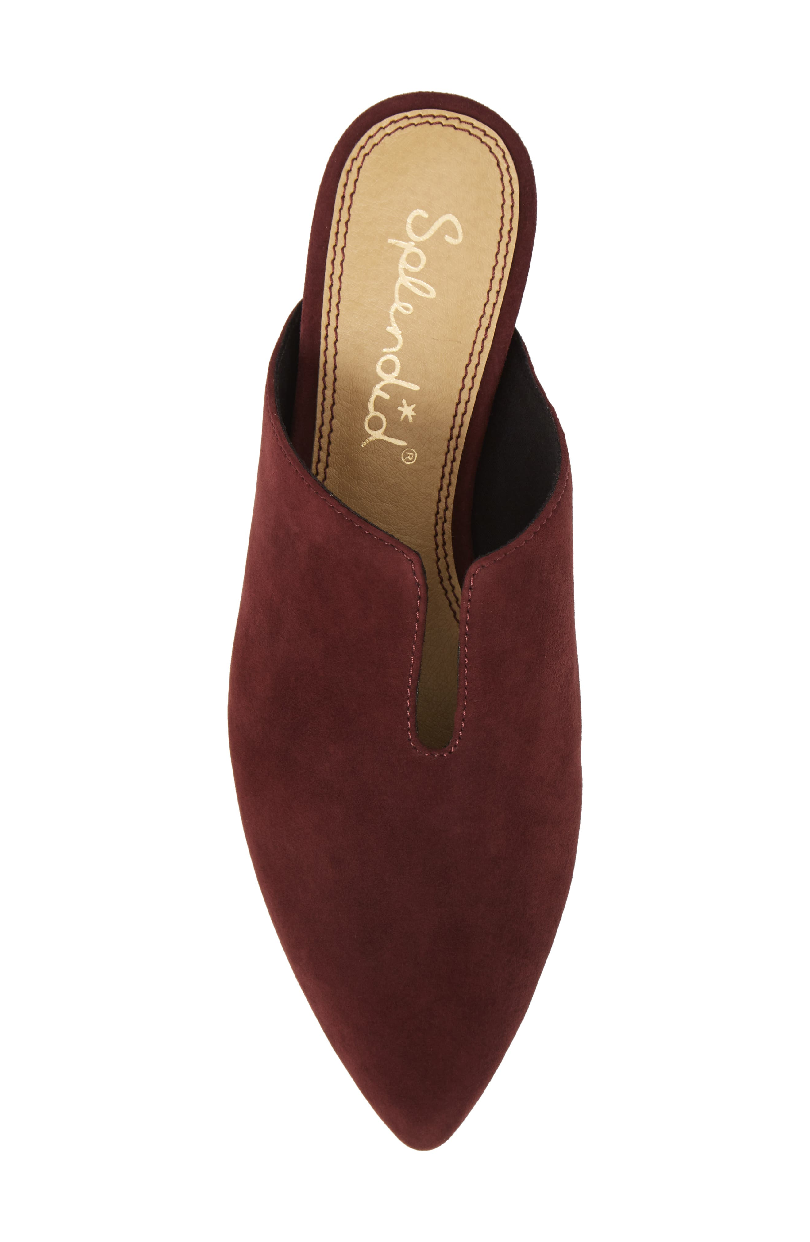 Nieves Mule,                             Alternate thumbnail 5, color,                             DEEP PLUM SUEDE