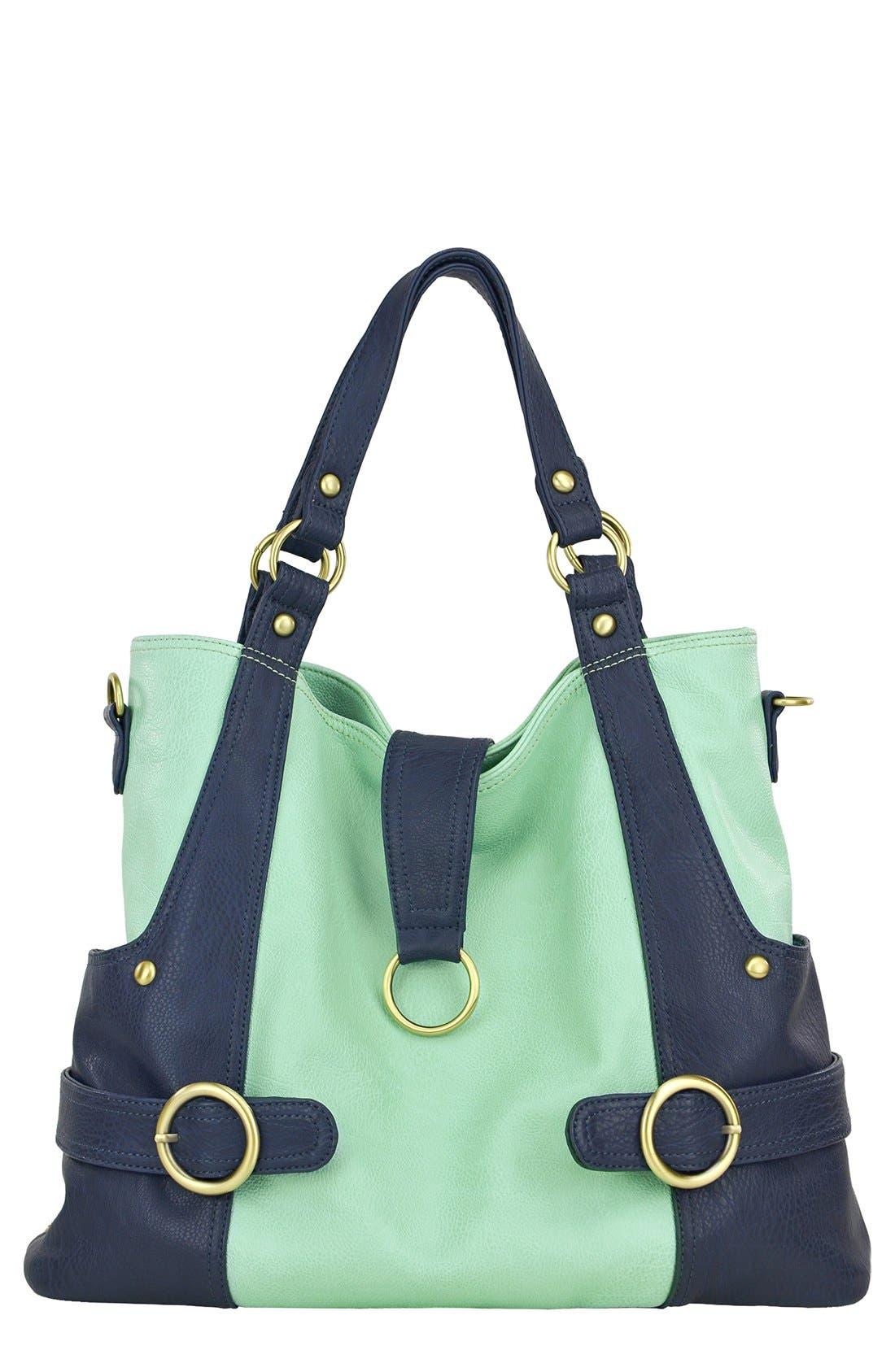 'Hannah' Faux Leather Diaper Bag,                         Main,                         color, 335