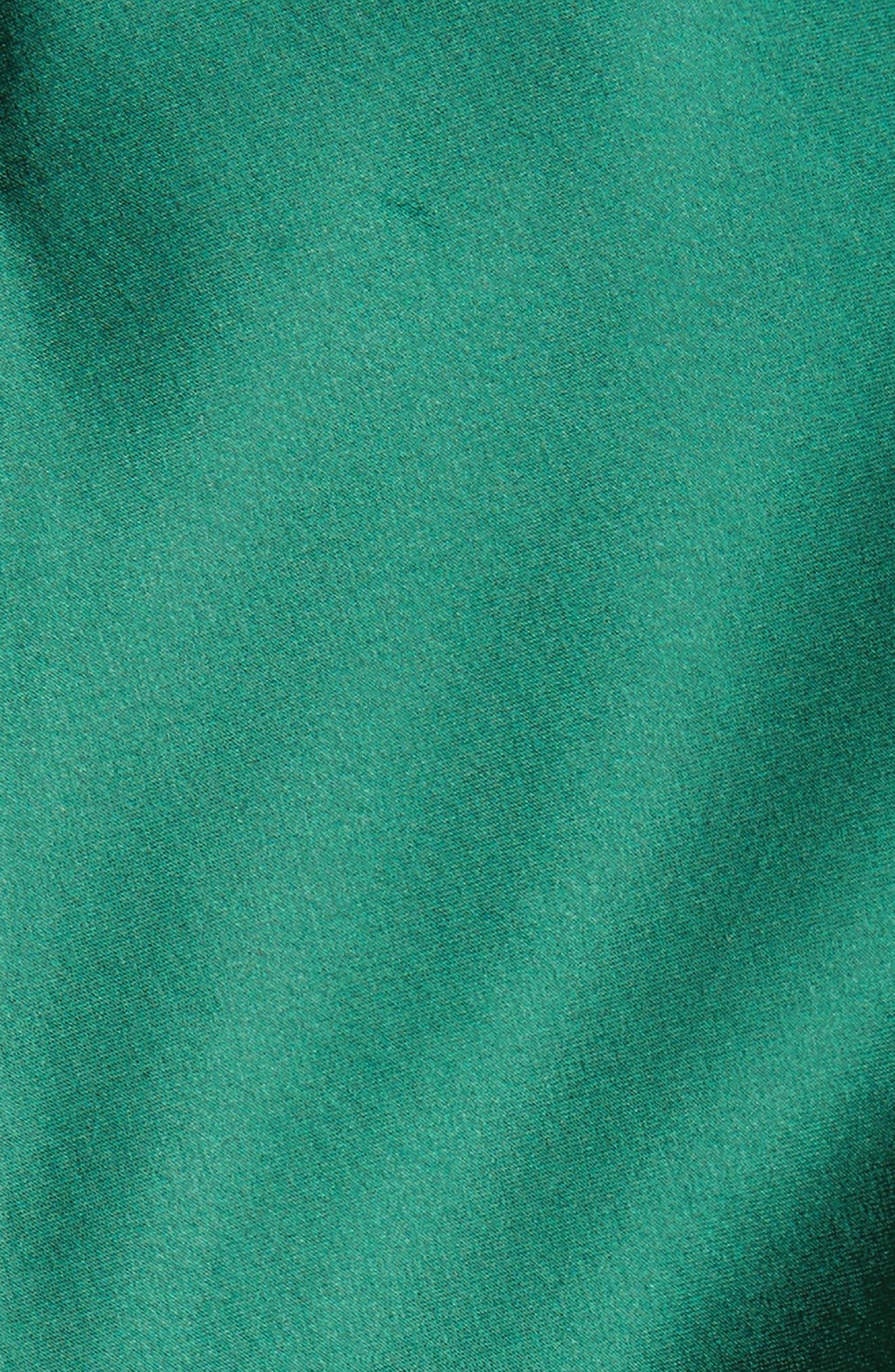 Twist Puff Sleeve Satin Blouse,                             Alternate thumbnail 5, color,