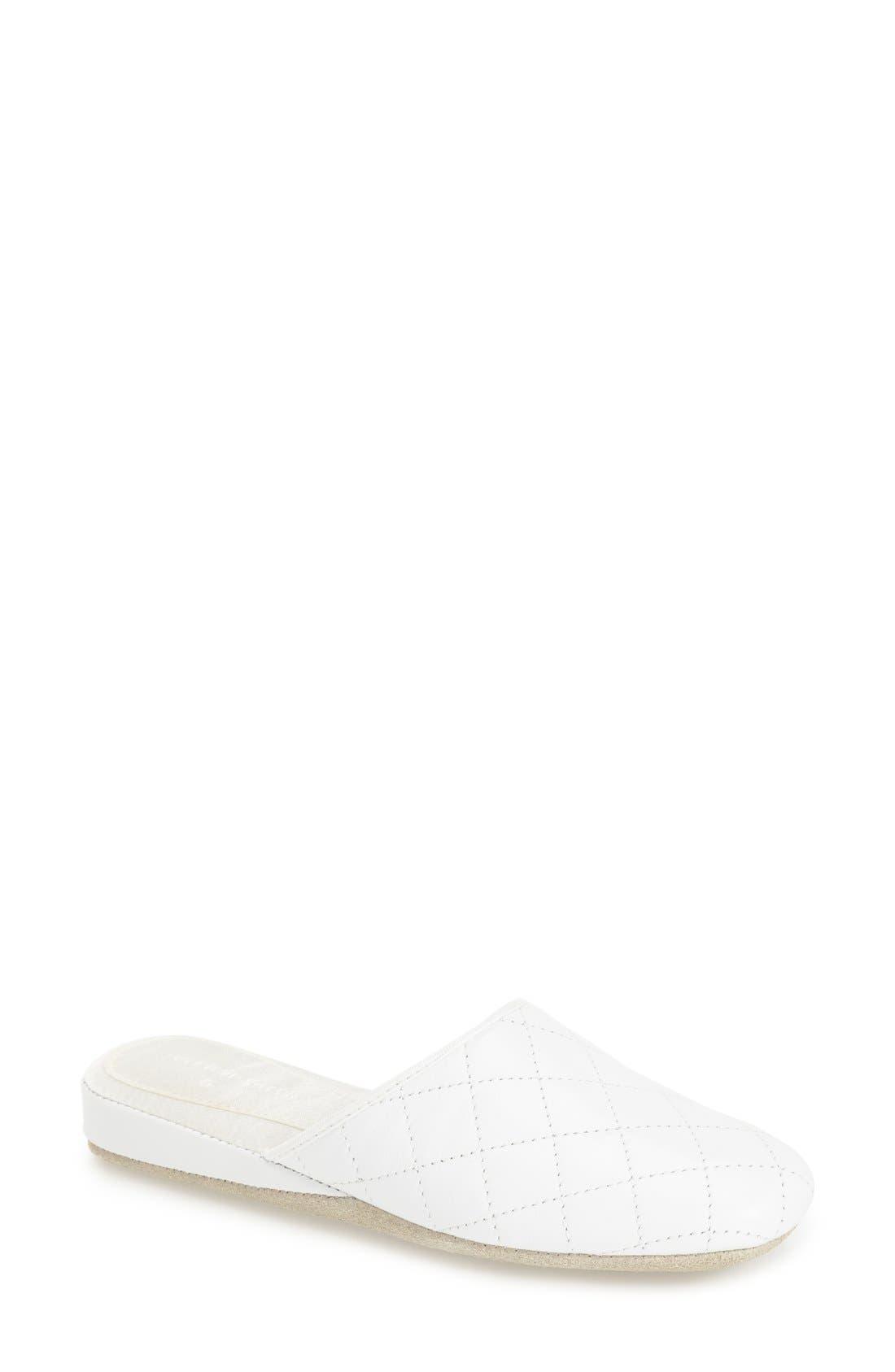 'Coco' Slipper,                         Main,                         color, WHITE
