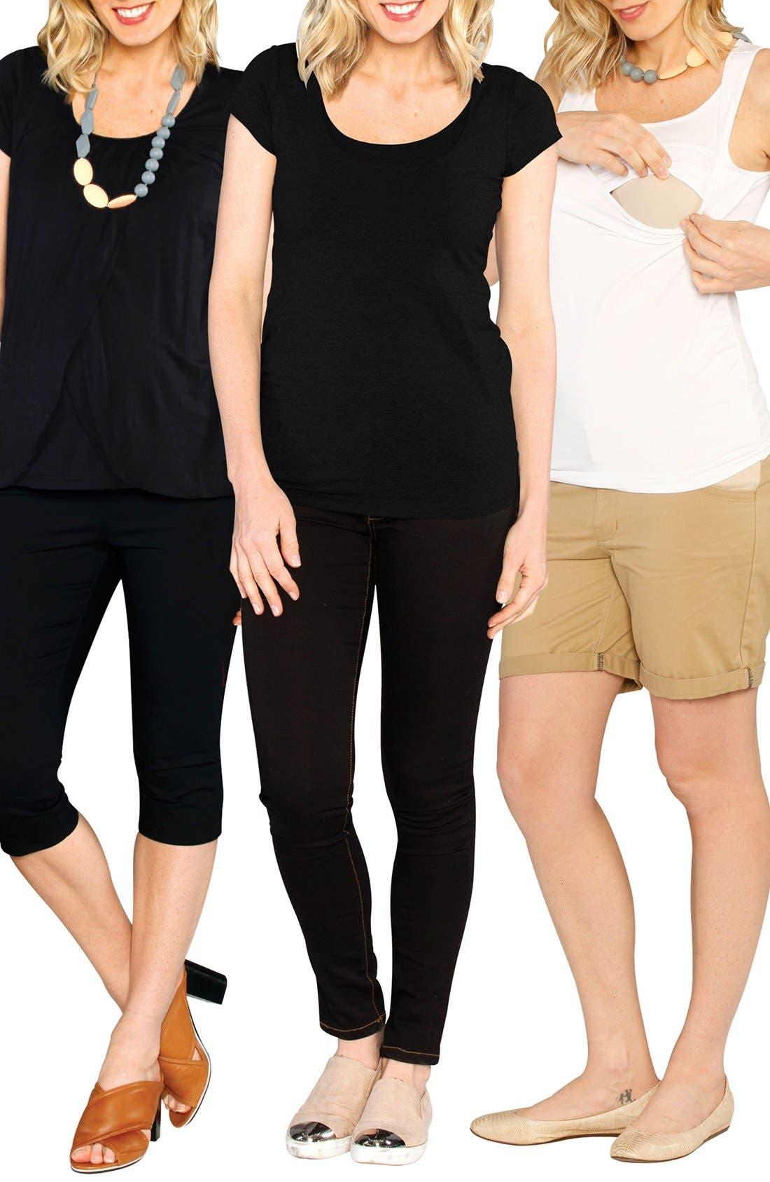 'Essential' Maternity/Nursing Kit,                         Main,                         color, BLACK
