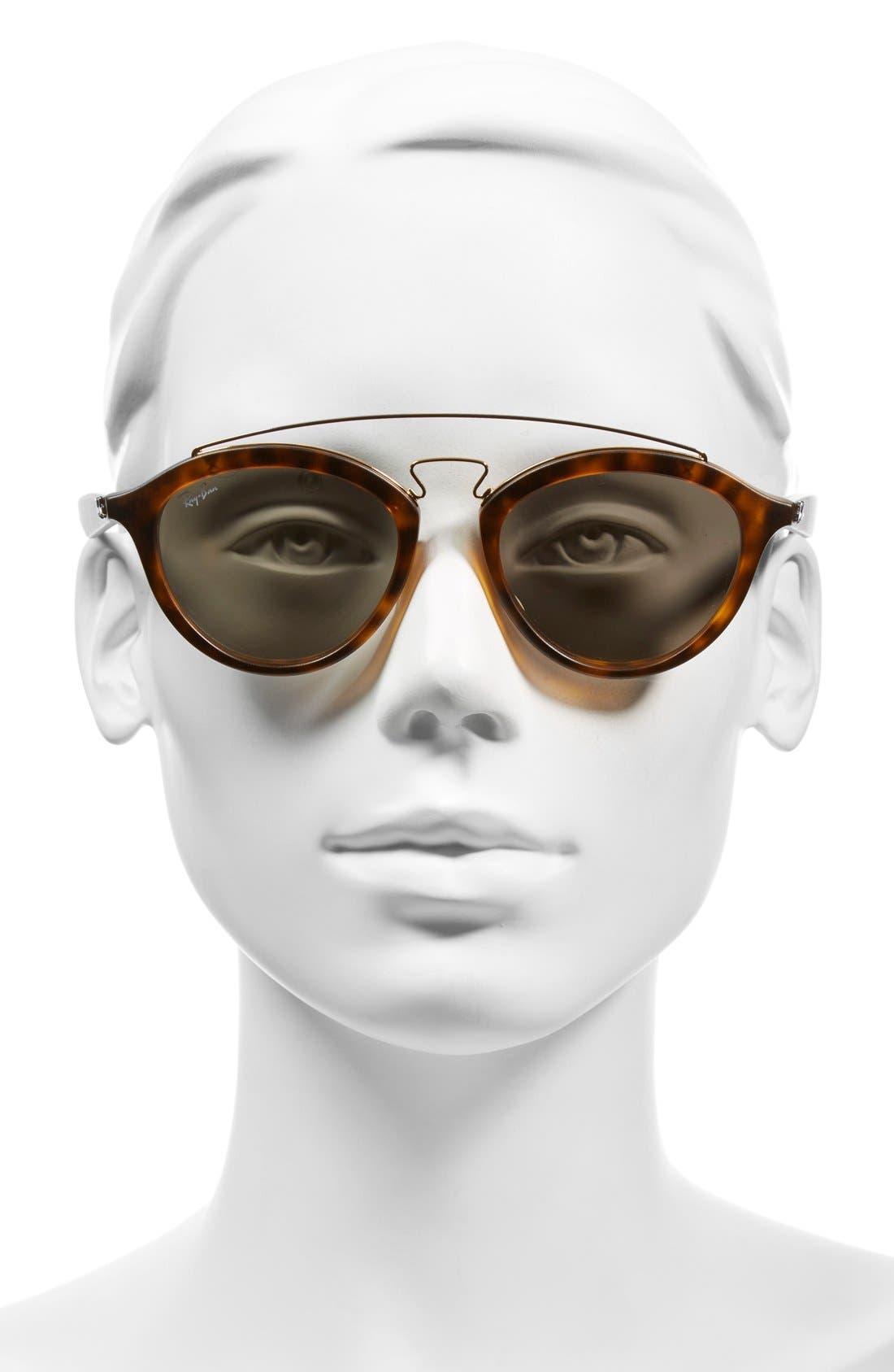Highstreet 50mm Brow Bar Sunglasses,                             Alternate thumbnail 11, color,