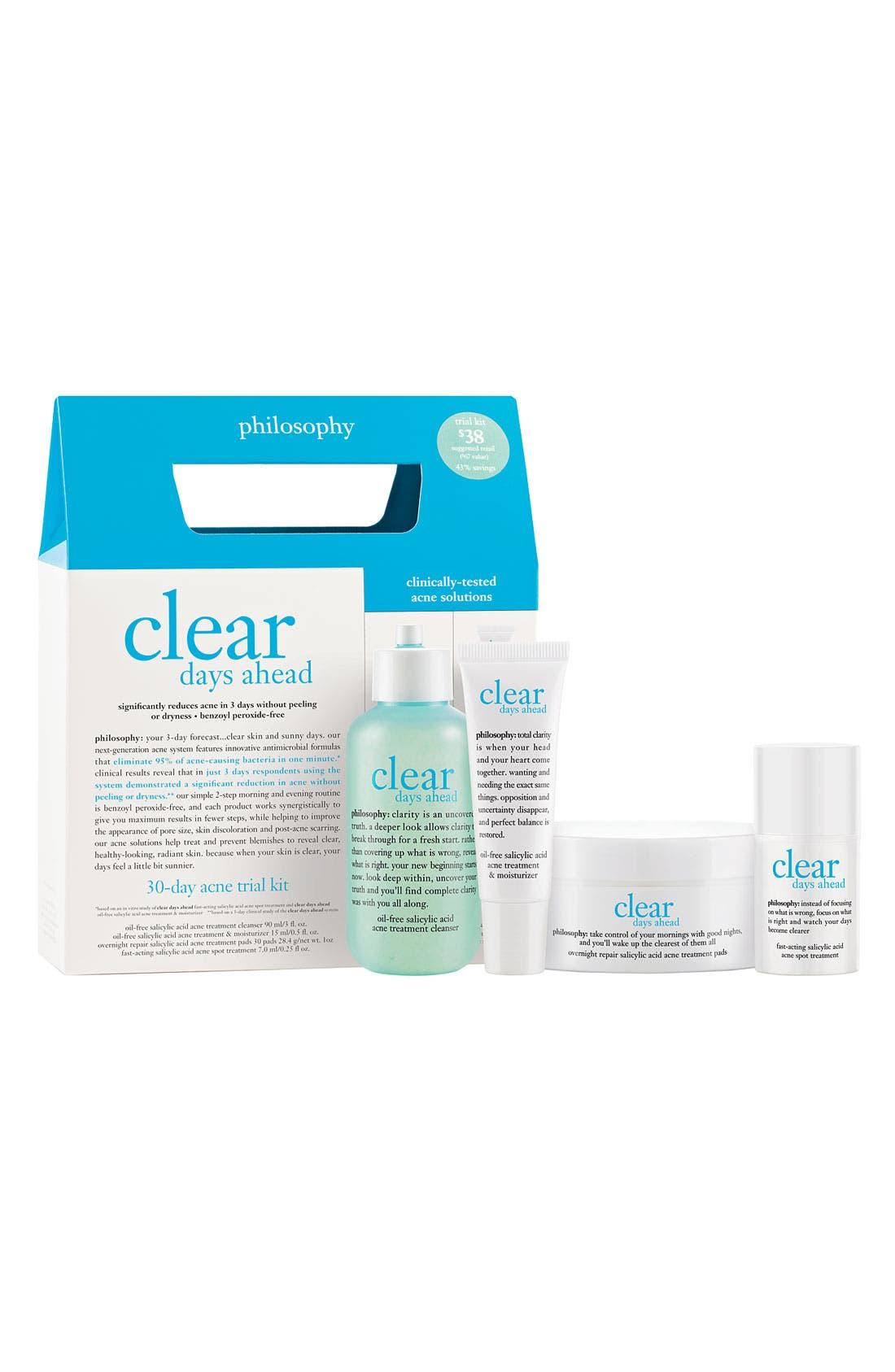 'clear days ahead' acne treatment trial kit,                         Main,                         color, 000