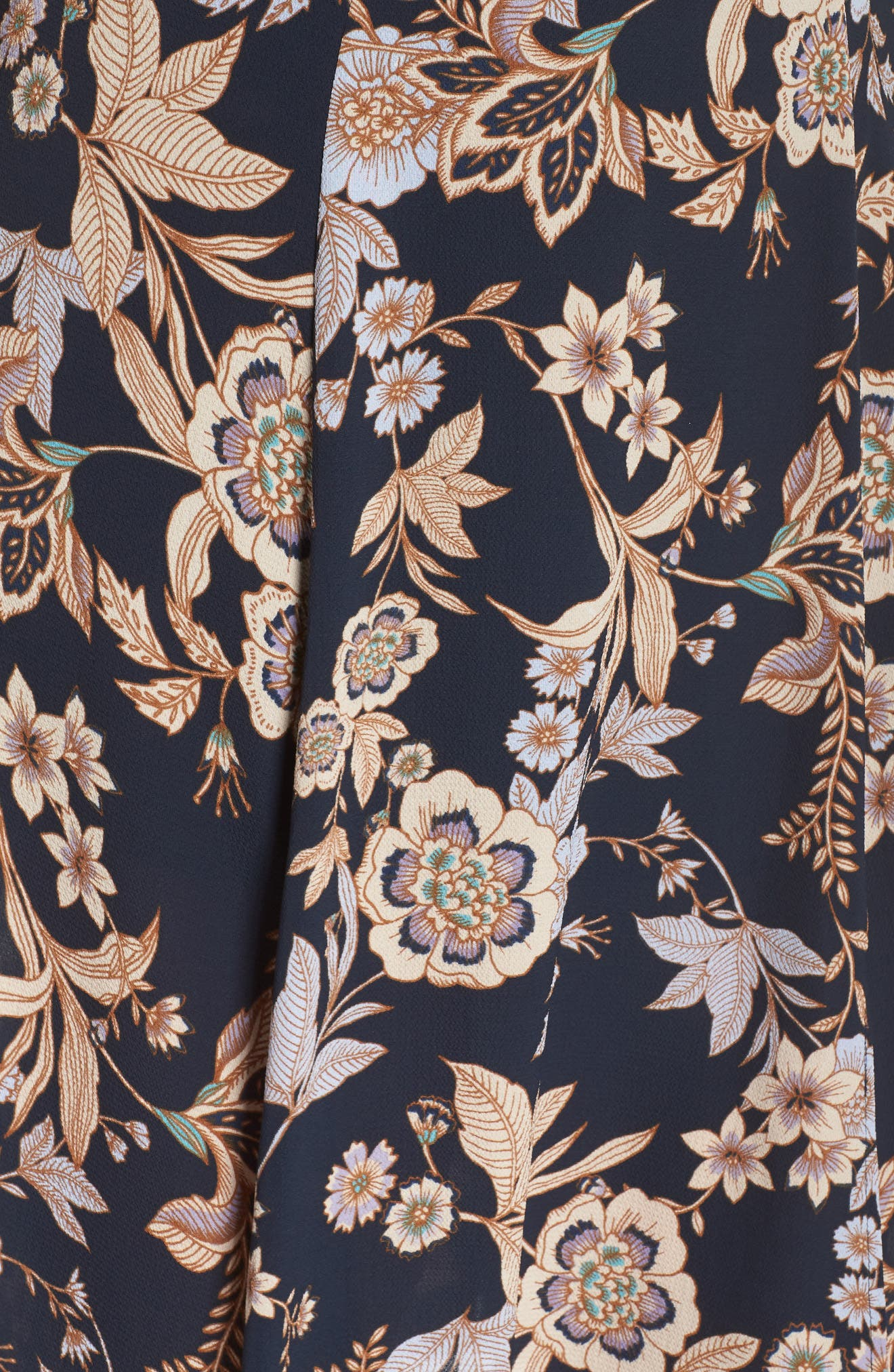 Floral Fit & Flare Dress,                             Alternate thumbnail 6, color,                             410