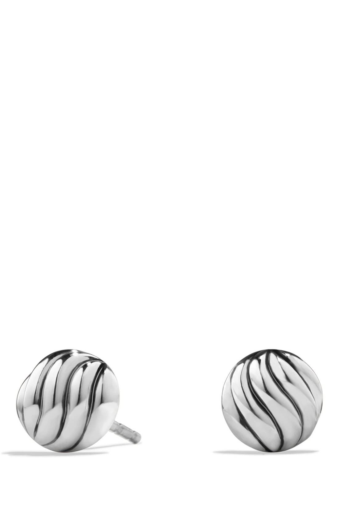 'Sculpted Cable' Stud Earrings,                         Main,                         color, SILVER