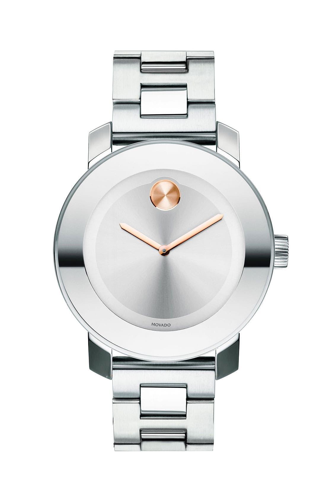 'Bold' Round Bracelet Watch, 36mm,                         Main,                         color,