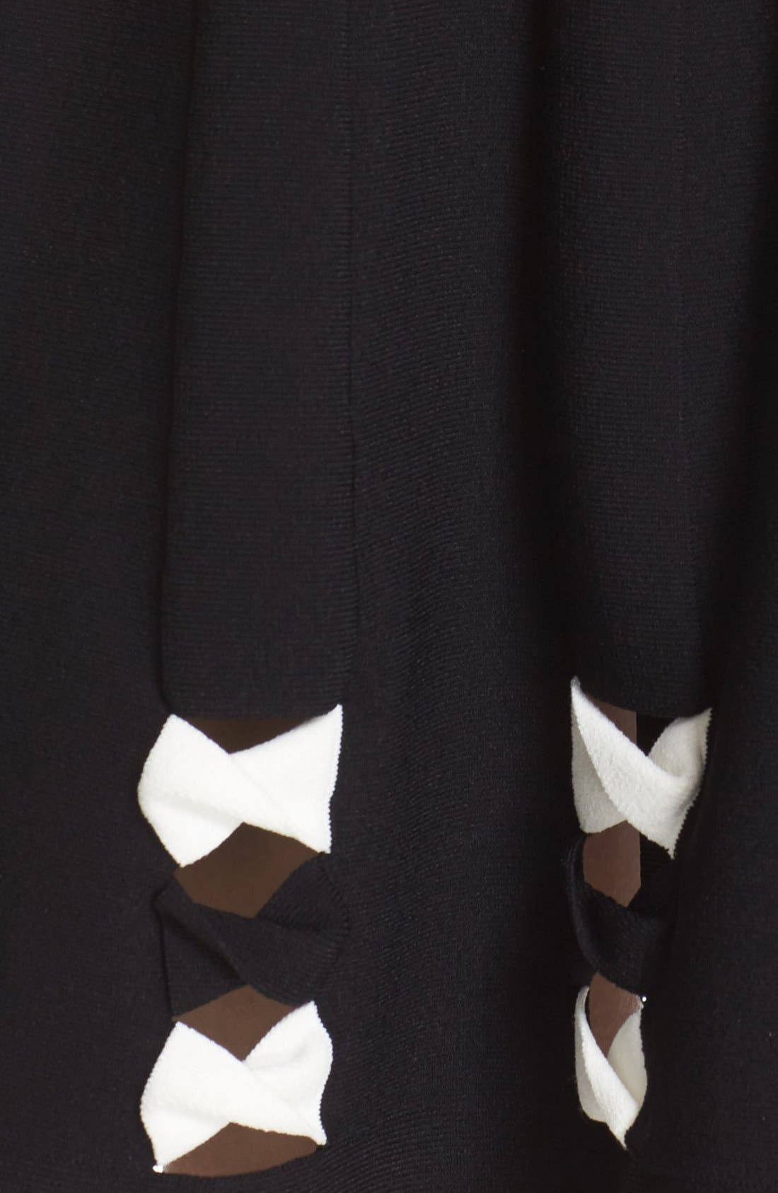 Twisted Cutout Skirt,                             Alternate thumbnail 4, color,                             001