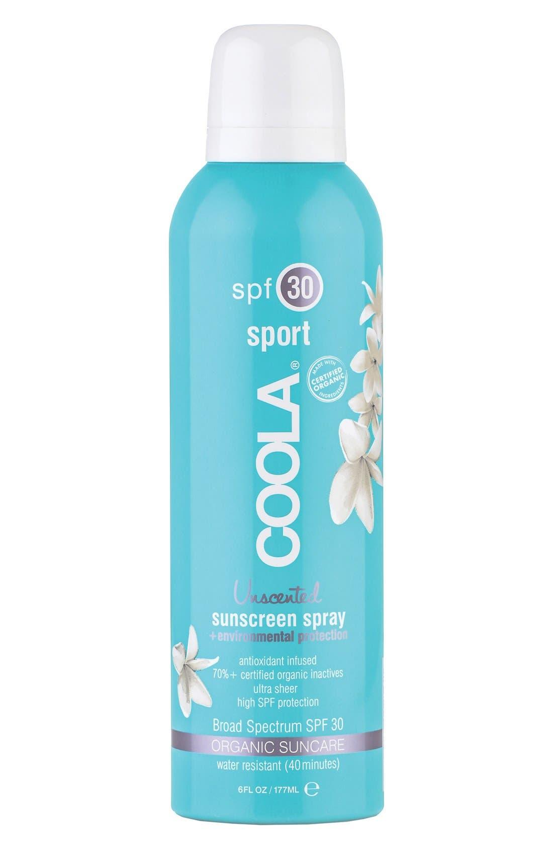Coola Suncare Sport Sunscreen Spray Broad Spectrum Spf 30, oz
