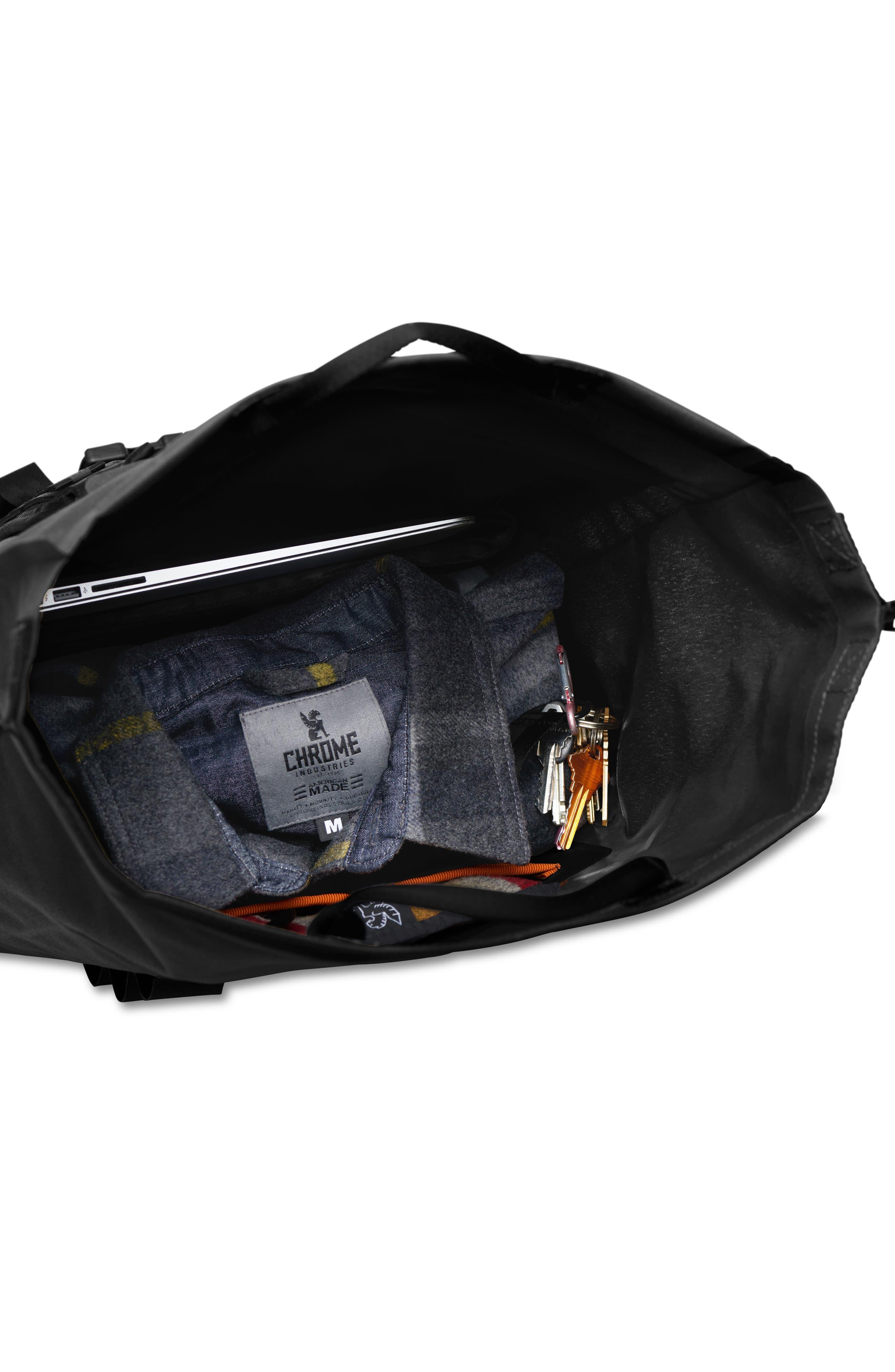 Urban Ex Rolltop Waterproof Backpack,                             Alternate thumbnail 4, color,                             BLACK/ BLACK
