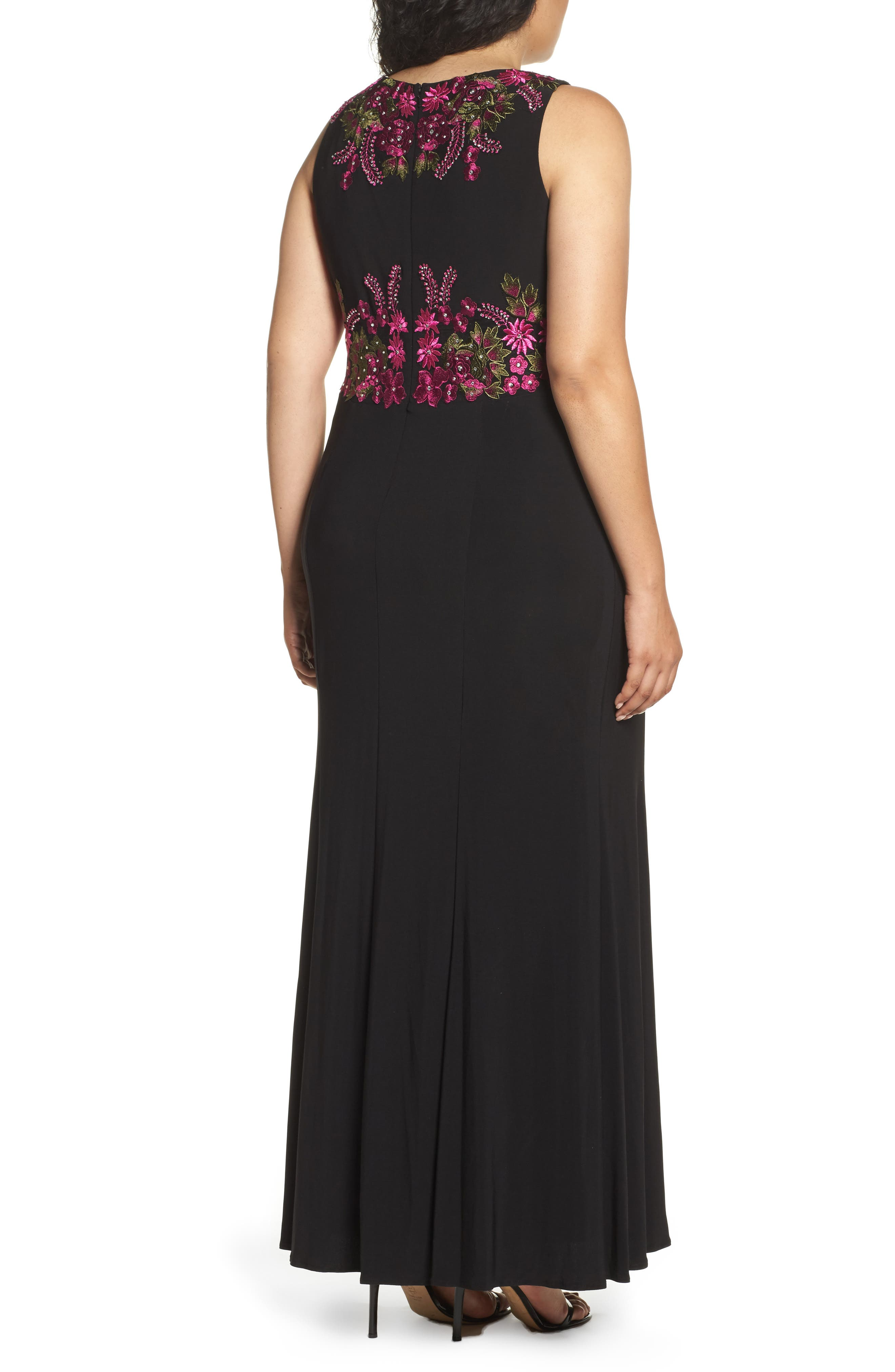 Embellished Sheath Gown,                             Alternate thumbnail 2, color,                             015