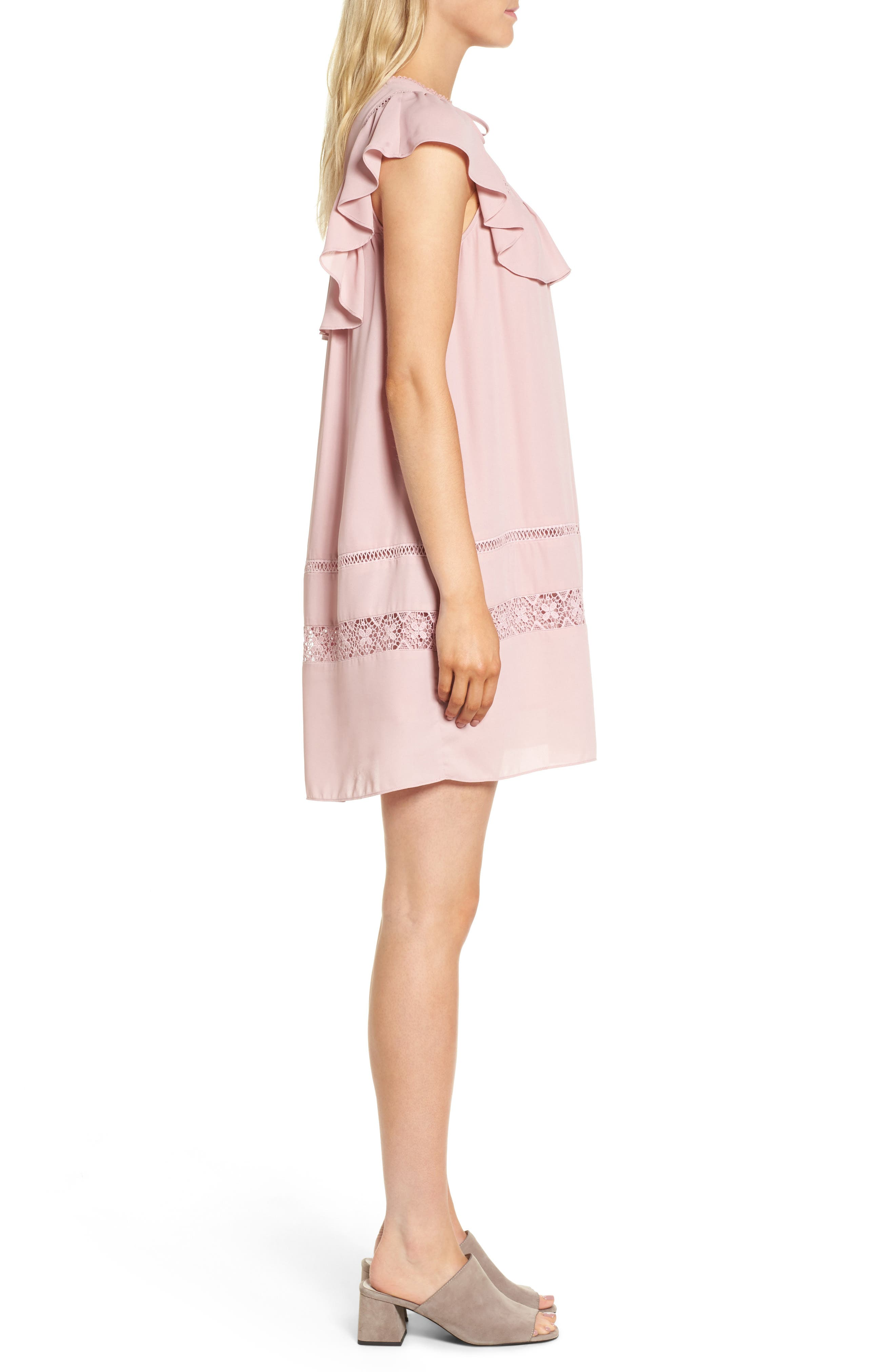Sorbonne Babydoll Dress,                             Alternate thumbnail 6, color,