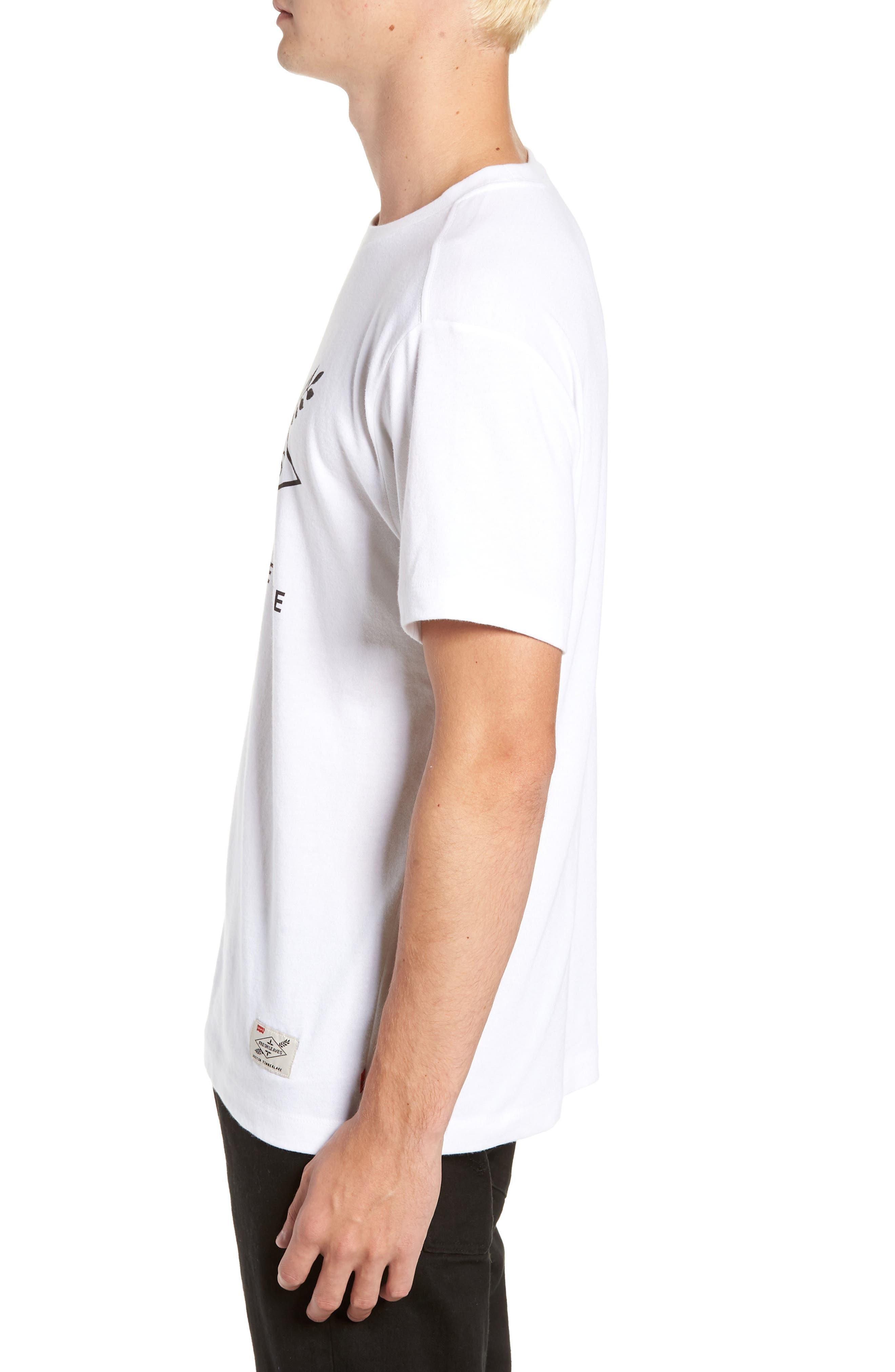 x Justin Timberlake Logo Graphic T-Shirt,                             Alternate thumbnail 3, color,                             FRESH LEAVES WHITE
