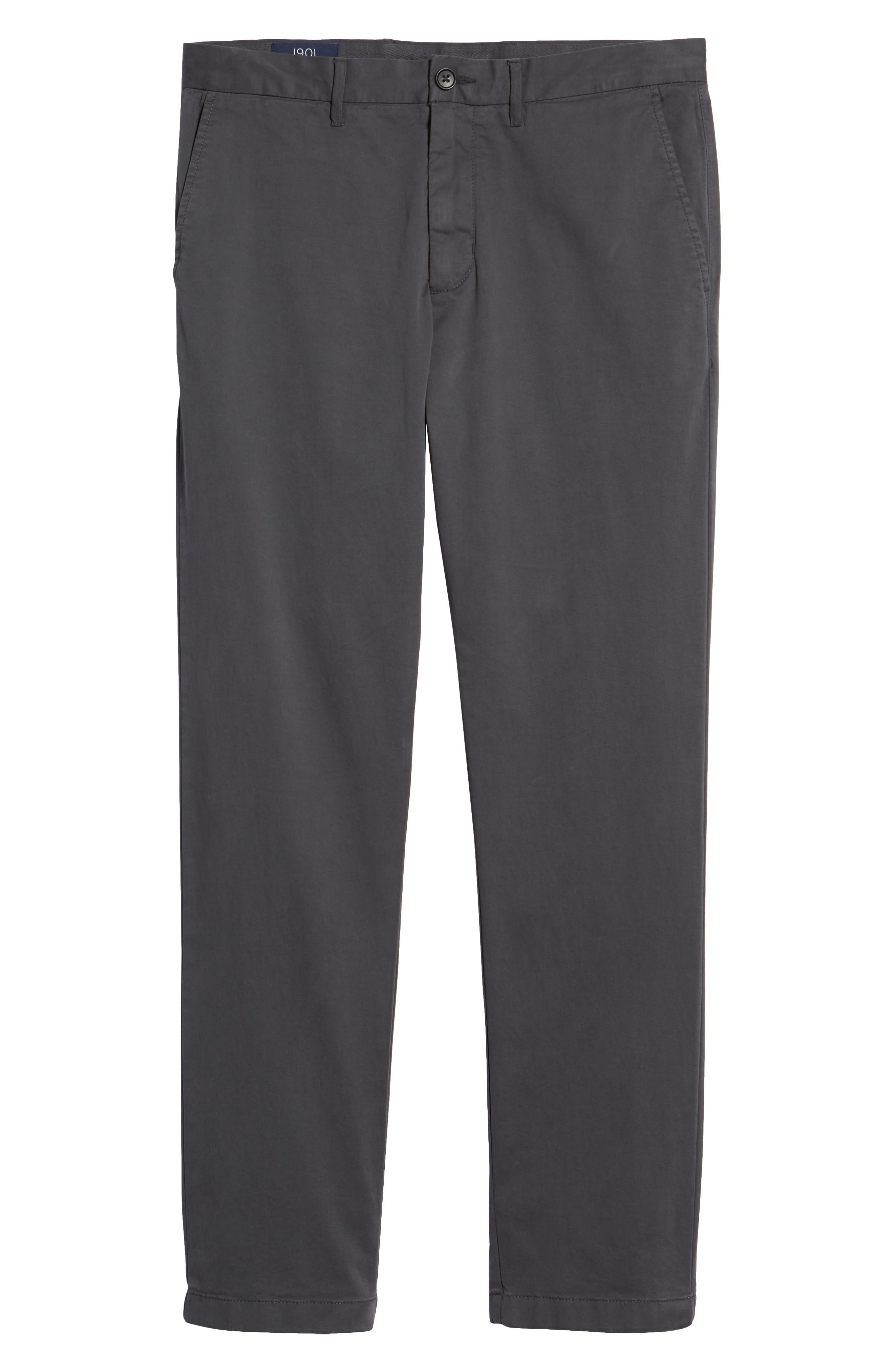 Fremont Flat Front Slim Fit Stretch Chino Pants,                             Alternate thumbnail 6, color,                             GREY ONYX