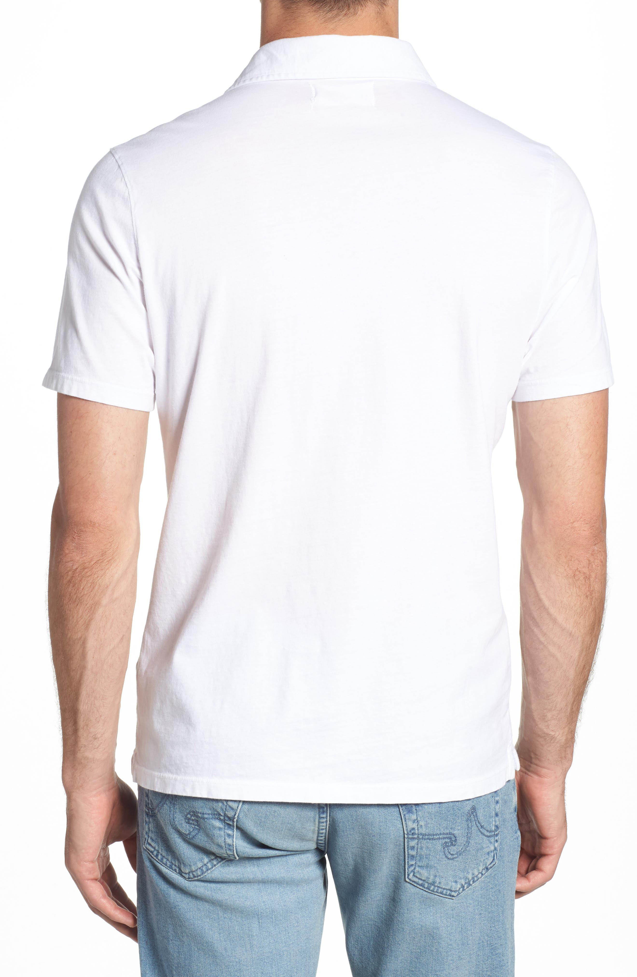 M.SINGER,                             Regular Fit Pocket Polo,                             Alternate thumbnail 2, color,                             WHITE