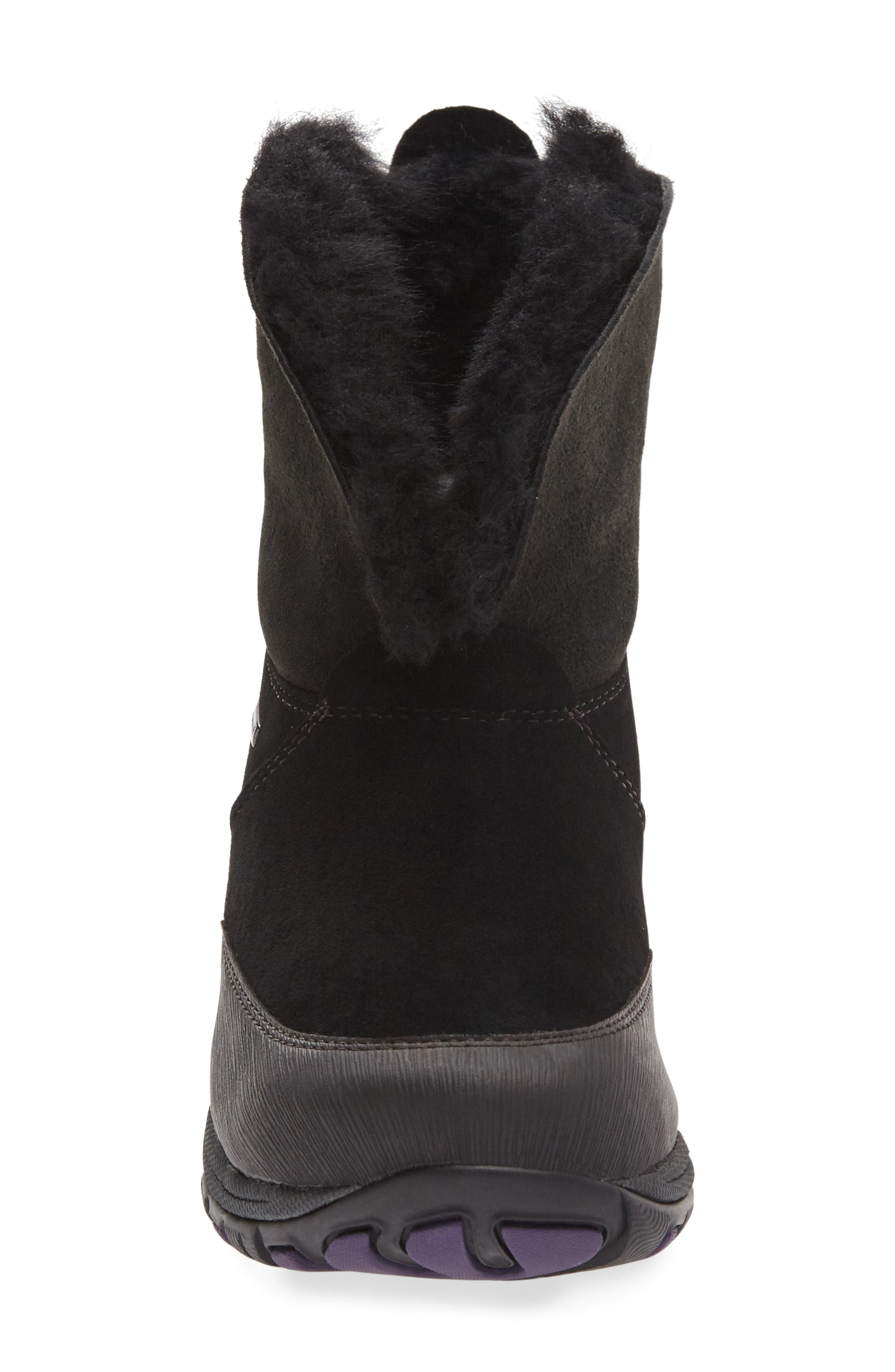 Priscilla Genuine Shearling Waterproof Bootie,                             Alternate thumbnail 4, color,                             001