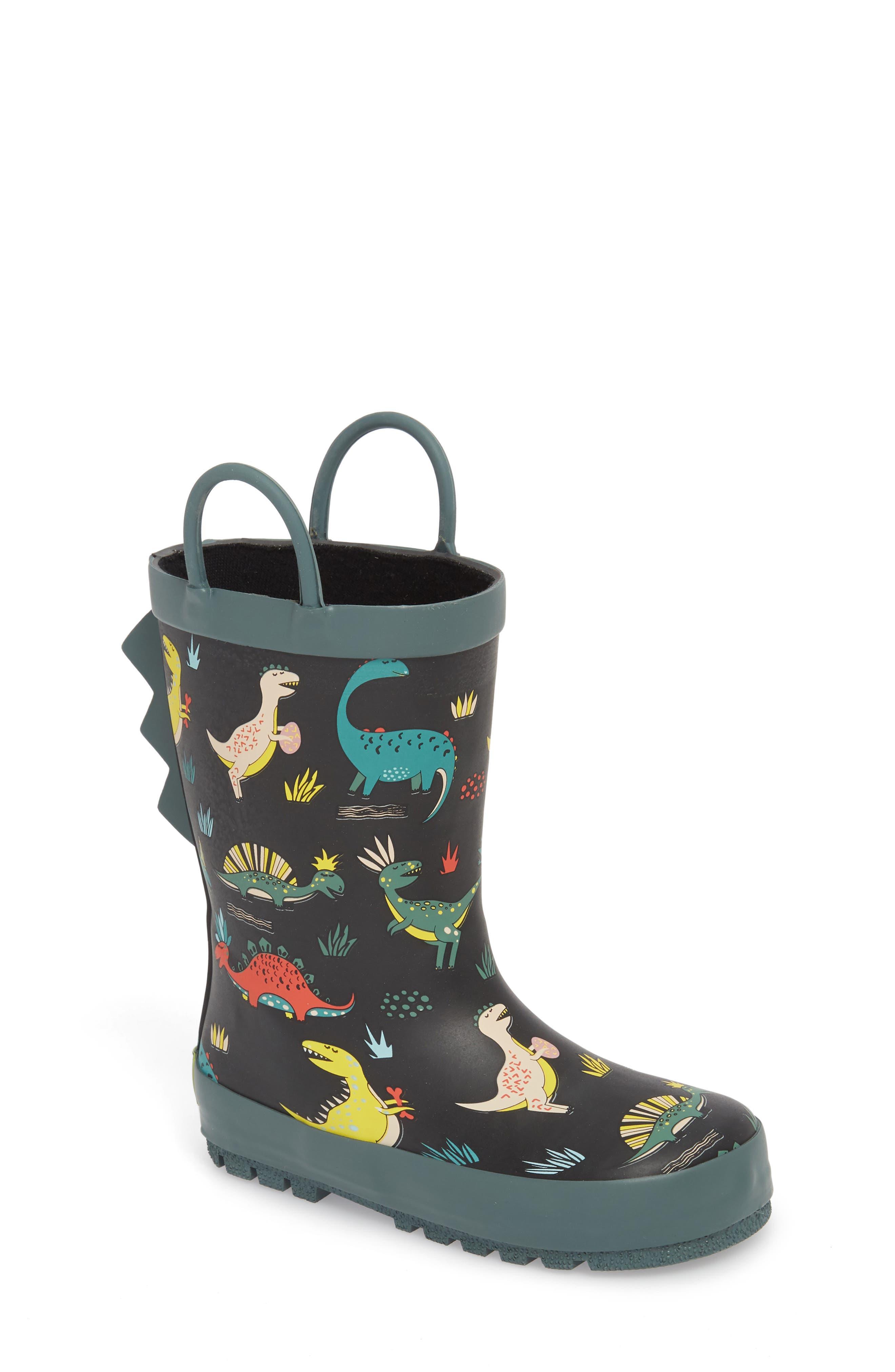 Jurassic Jumble Rain Boot,                             Main thumbnail 1, color,                             001