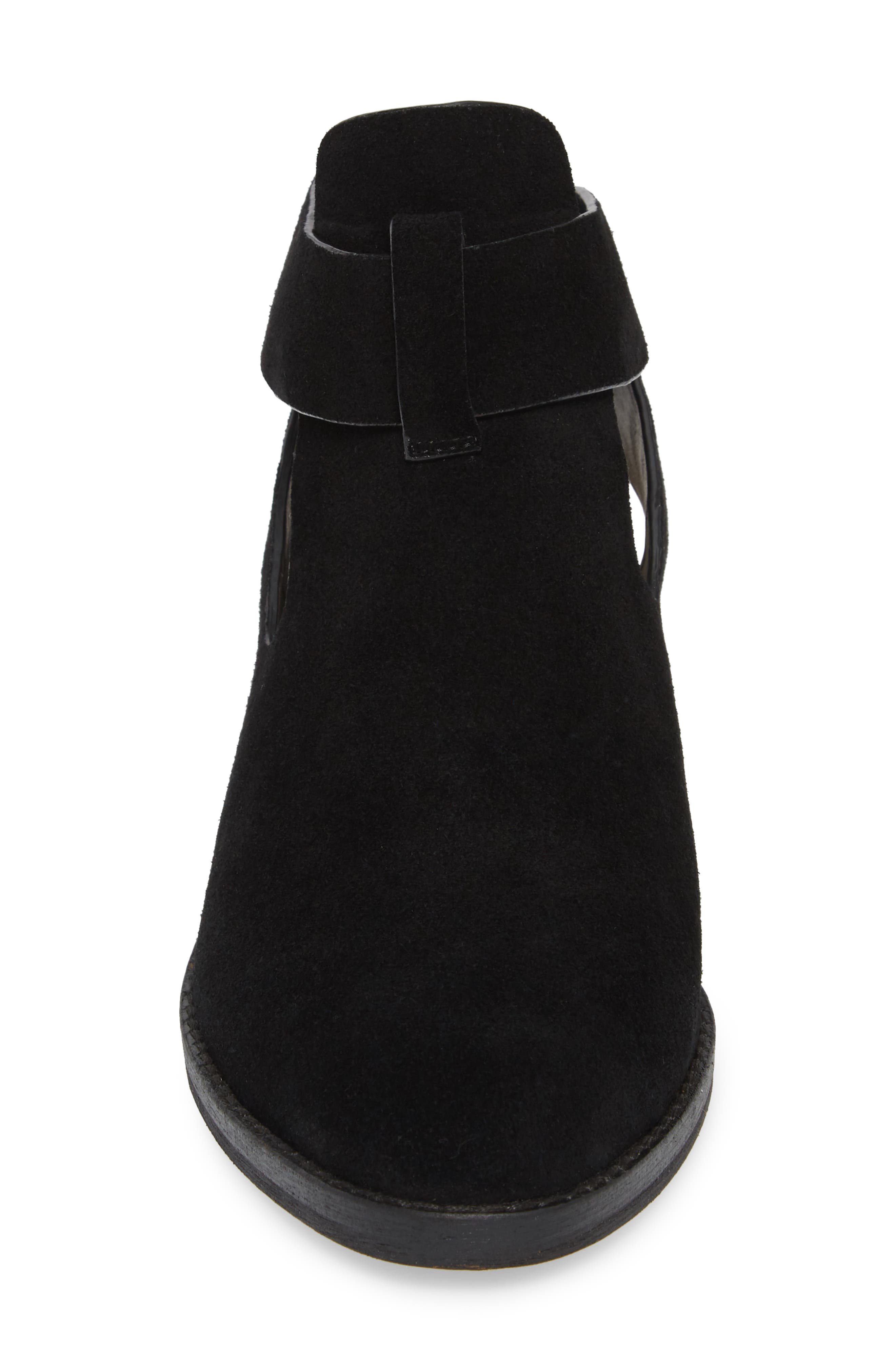 Cadell Bootie,                             Alternate thumbnail 4, color,                             BLACK SUEDE