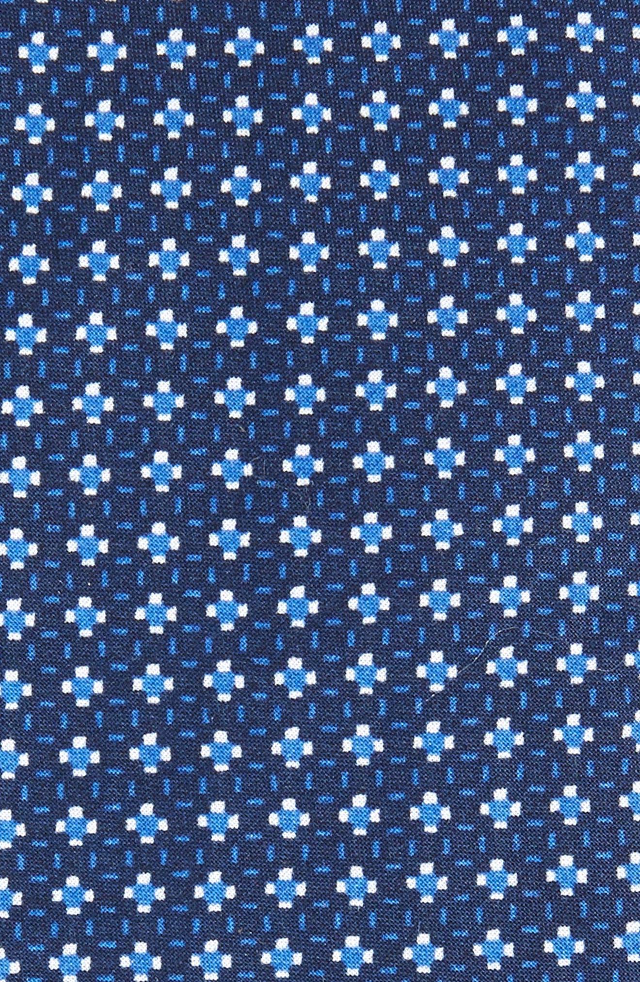 Olympos Geometric Cotton Tie,                             Alternate thumbnail 4, color,
