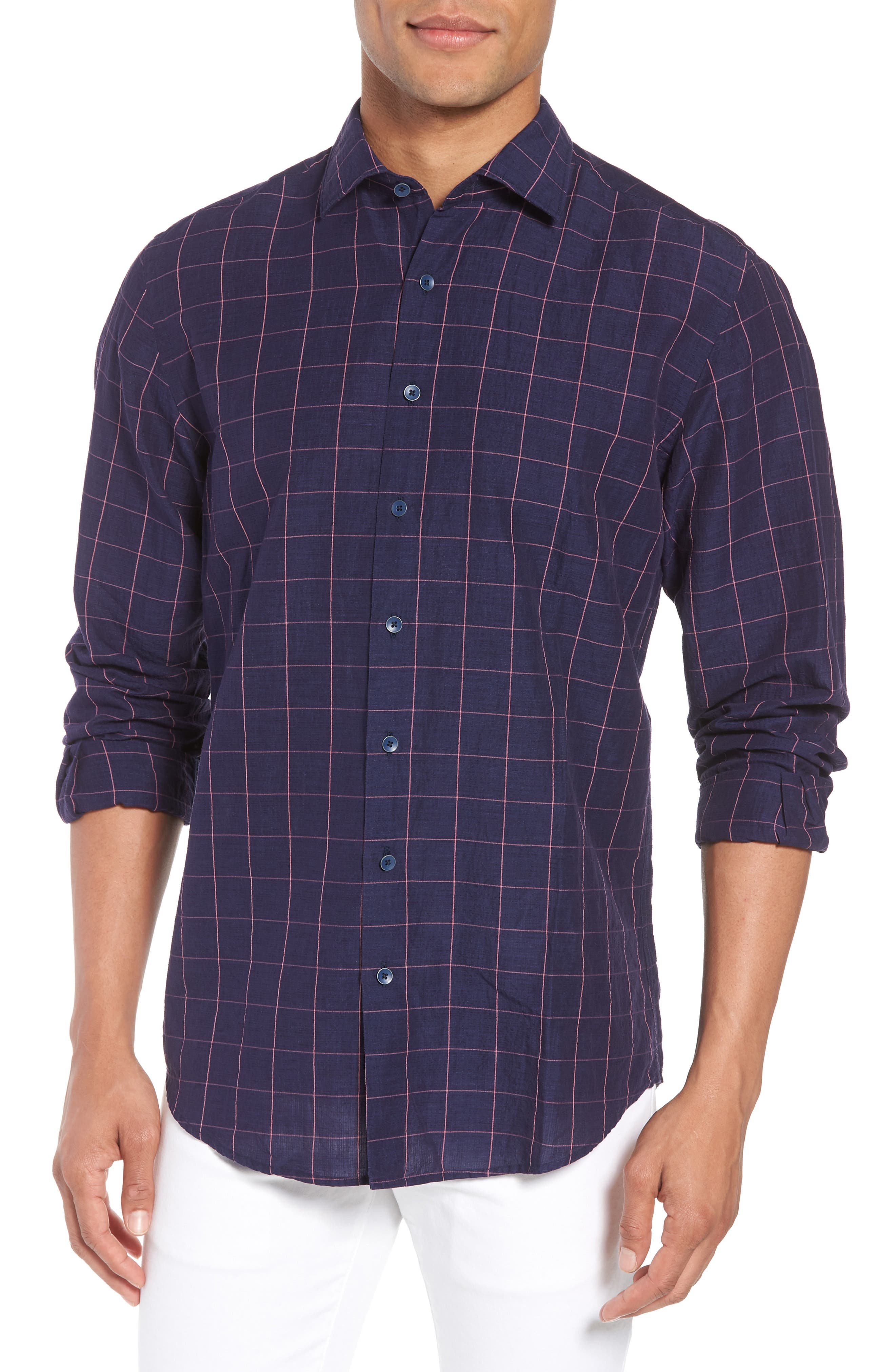 Tullarmore Windowpane Sport Shirt,                         Main,                         color,
