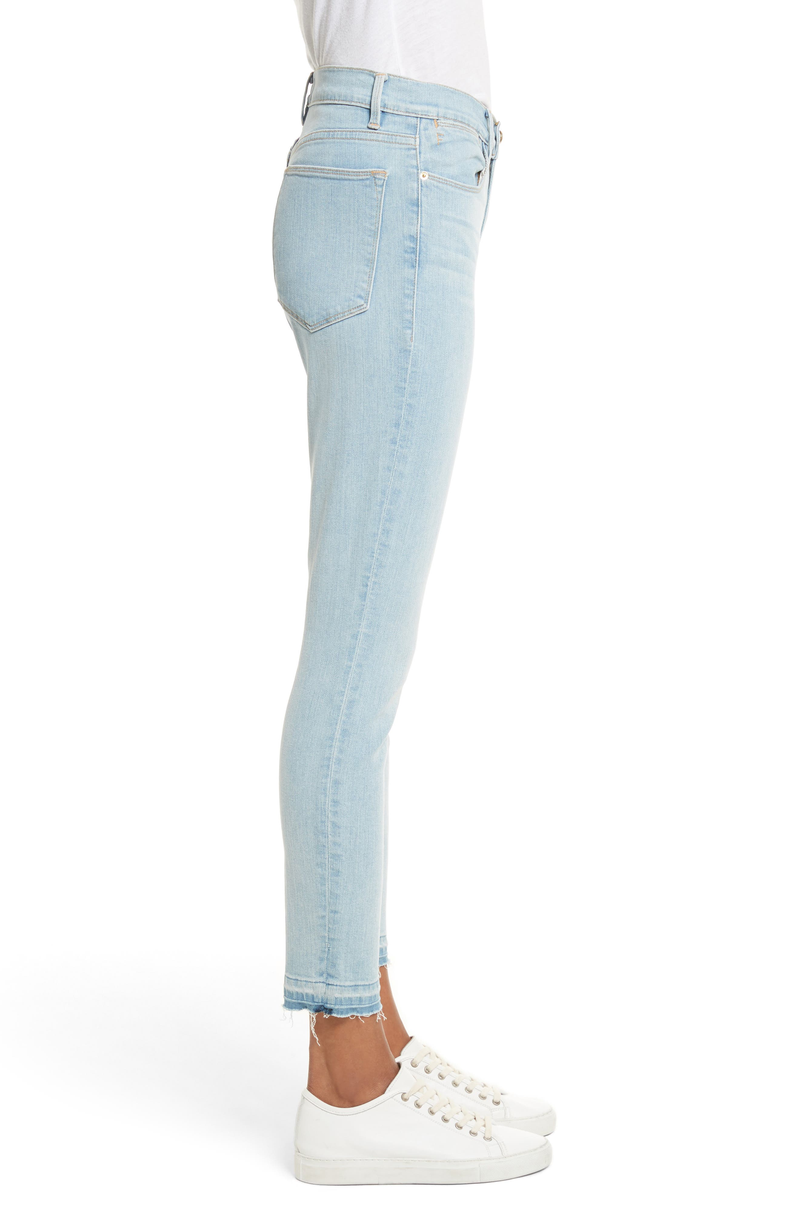 Le High Skinny Crop Jeans,                             Alternate thumbnail 3, color,