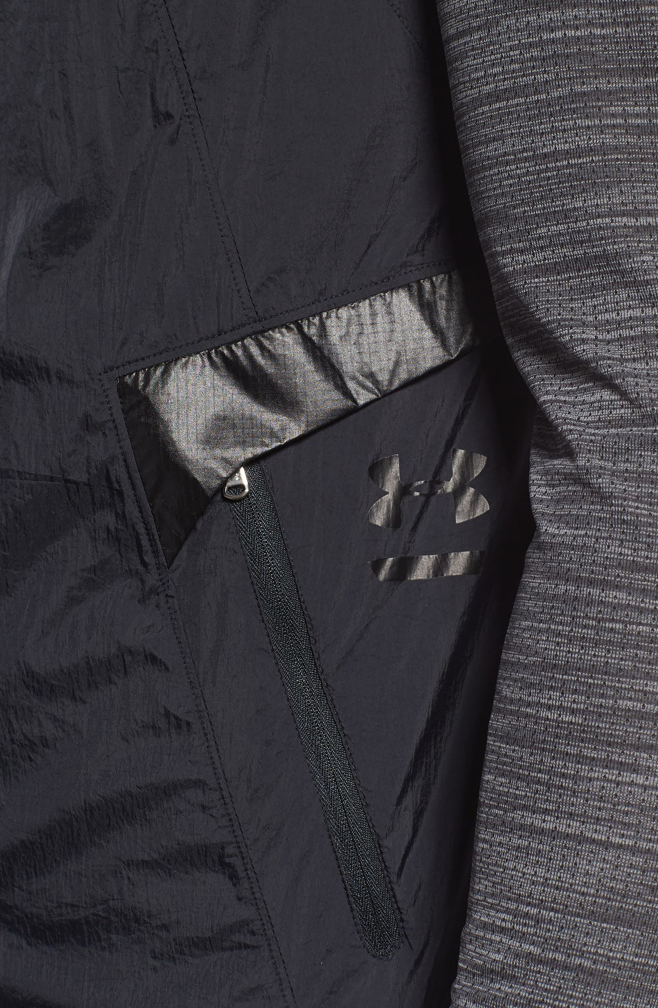Perpetual 18 Fitted Hooded Vest,                             Alternate thumbnail 4, color,                             BLACK