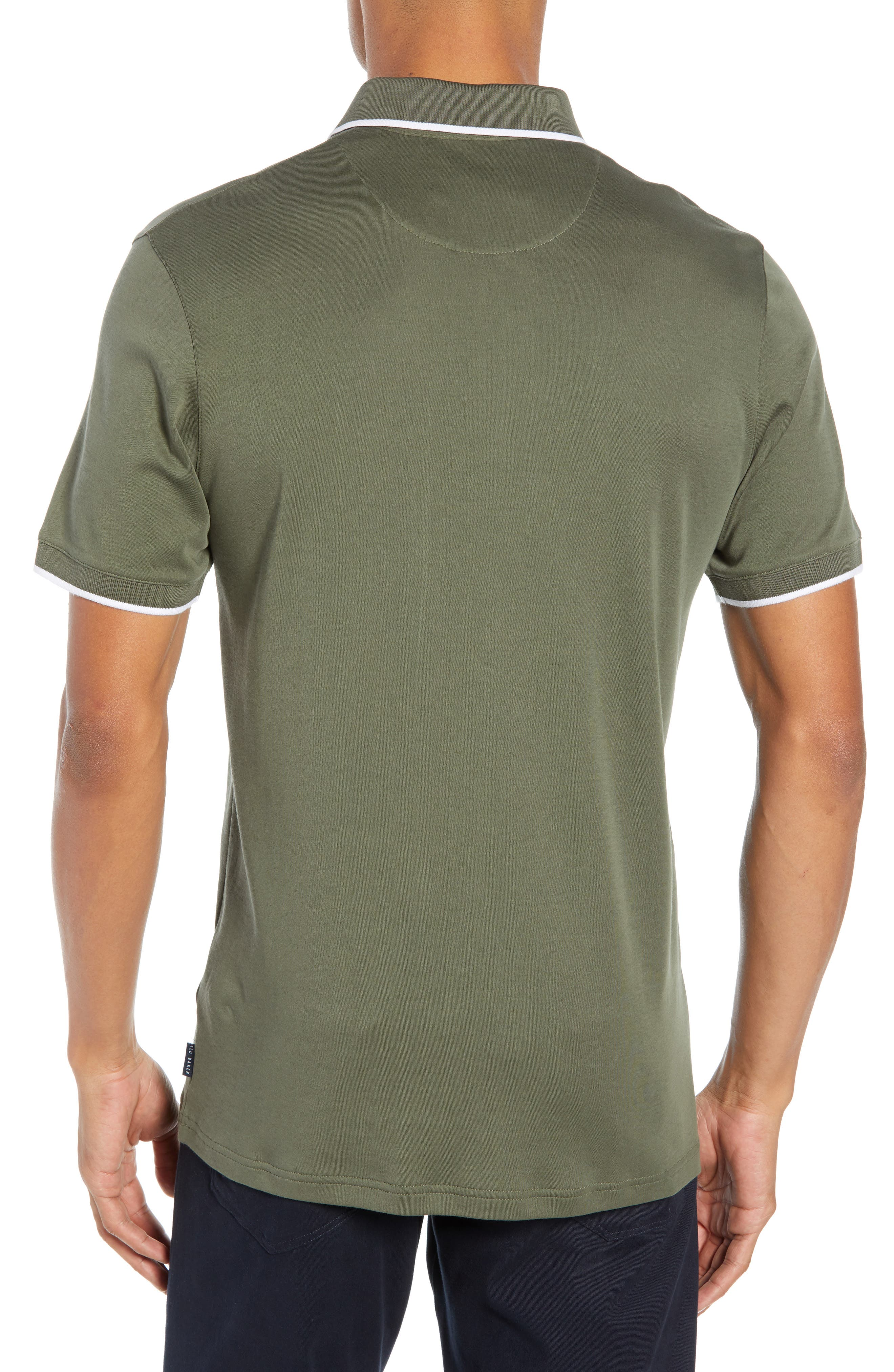 Jelly Slim Fit Tipped Pocket Polo,                             Alternate thumbnail 2, color,                             250