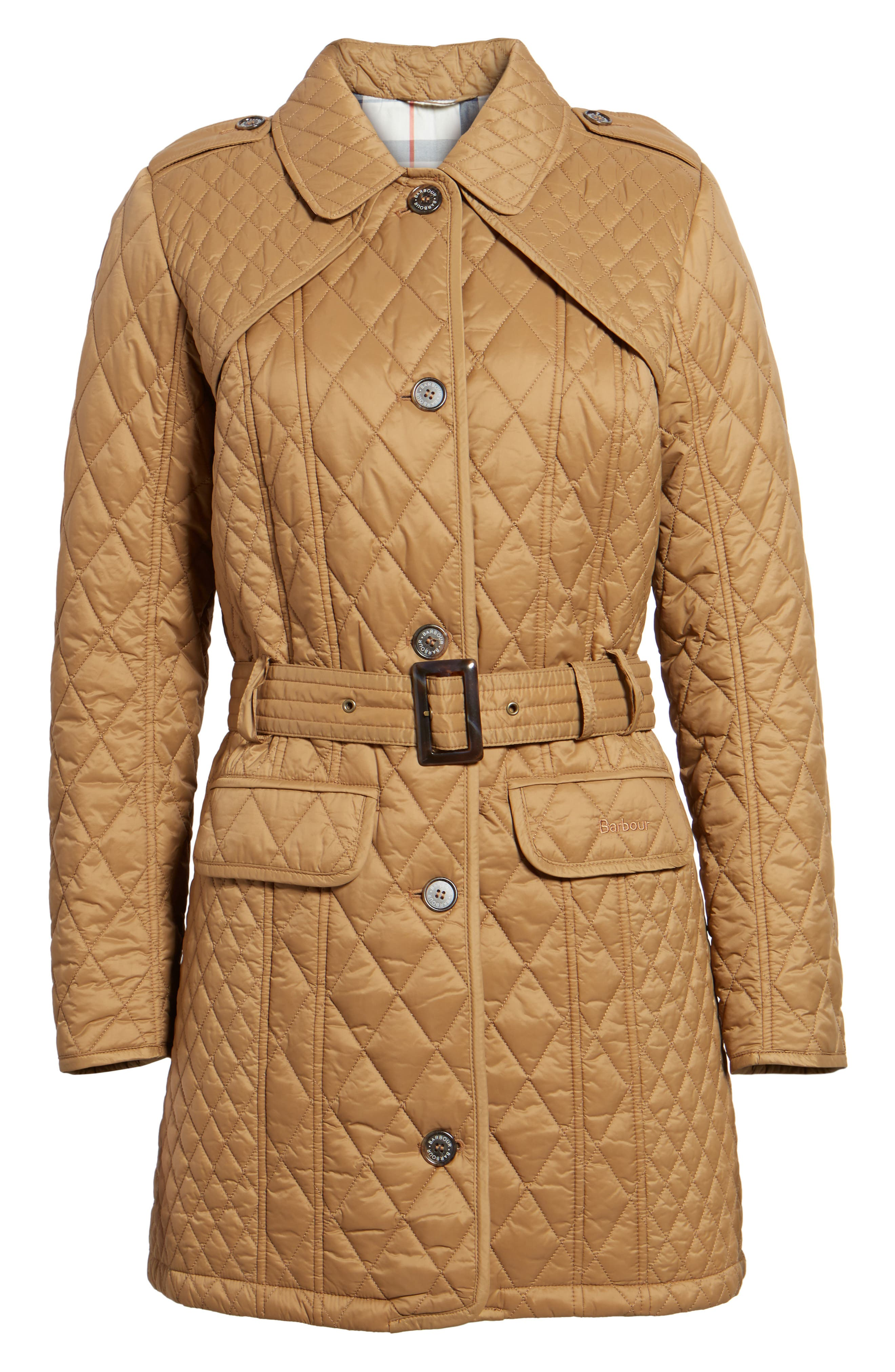 Hailes Quilted Trench Jacket,                             Alternate thumbnail 5, color,                             260