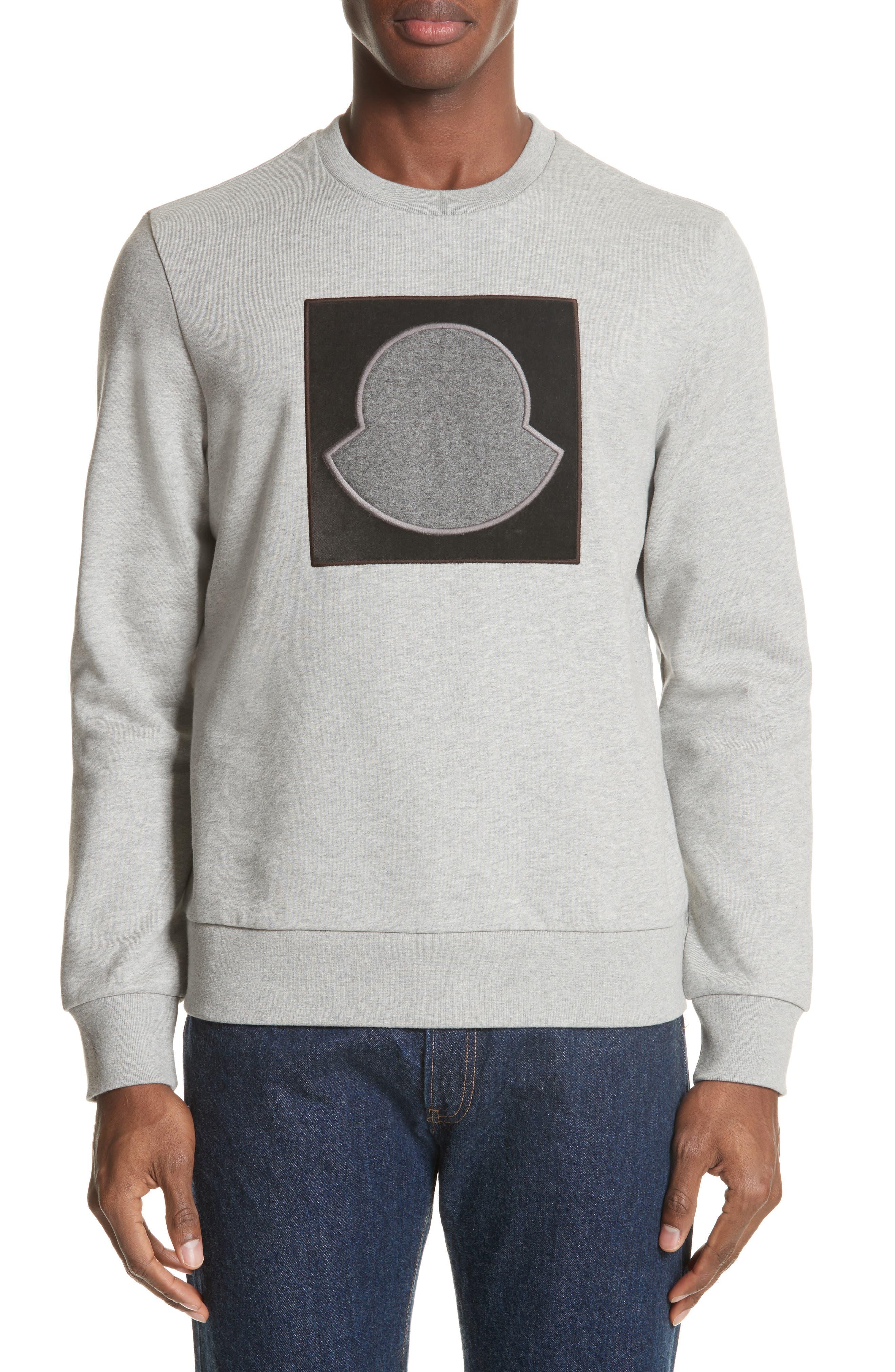 Maglia Bell Crewneck Sweatshirt, Main, color, GREY