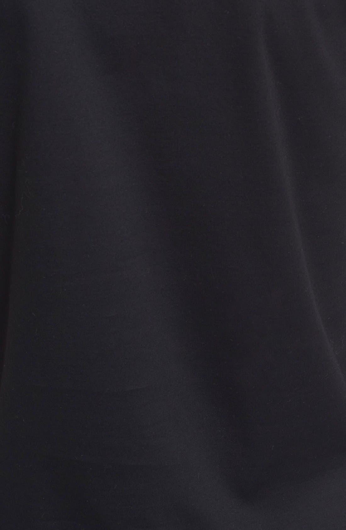 noir key ninomiya Cotton Tee with Frilled Bows,                             Alternate thumbnail 3, color,                             001