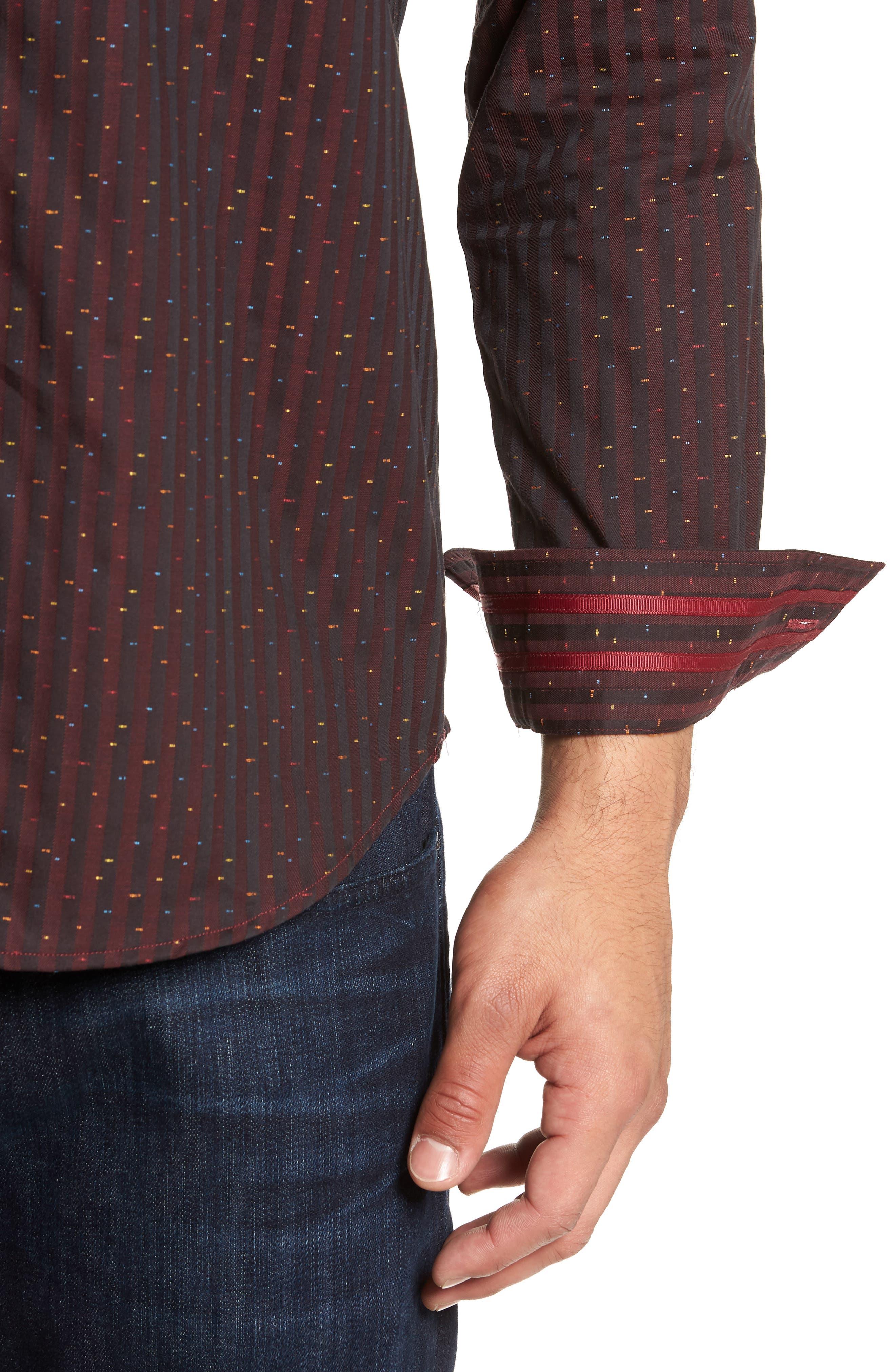ROBERT GRAHAM,                             McDermott Tailored Fit Print Sport Shirt,                             Alternate thumbnail 2, color,                             603