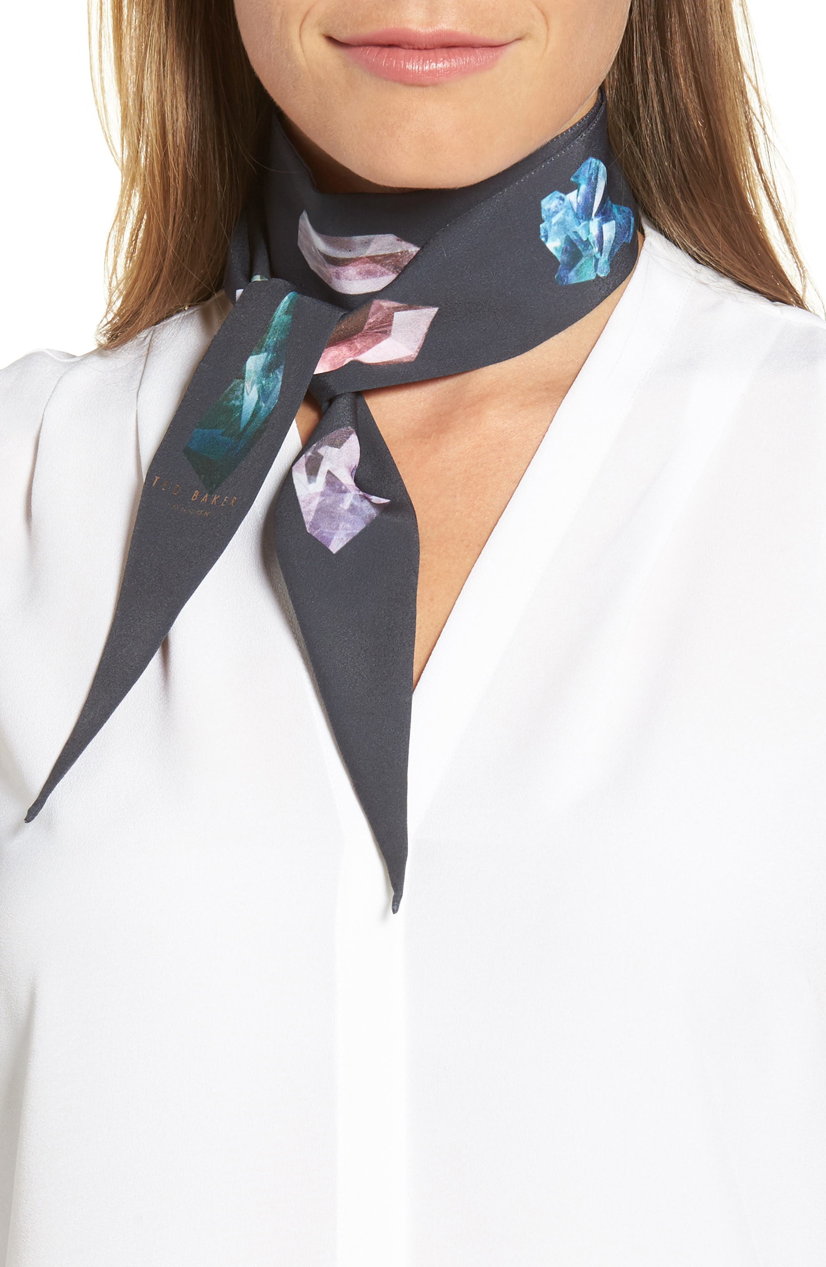 Mirrored Minerals Small Skinny Scarf,                         Main,                         color, 021