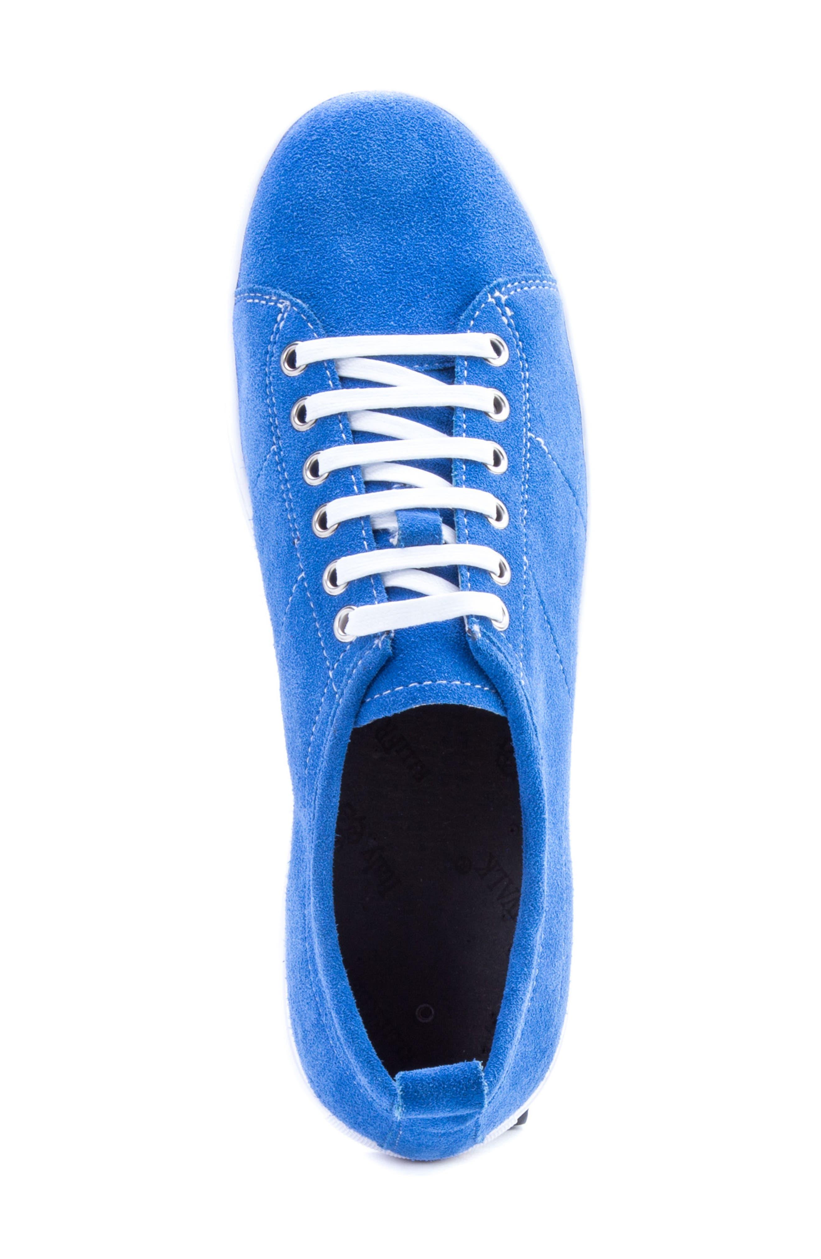 Ernesto Low Top Sneaker,                             Alternate thumbnail 5, color,                             ROYAL SUEDE