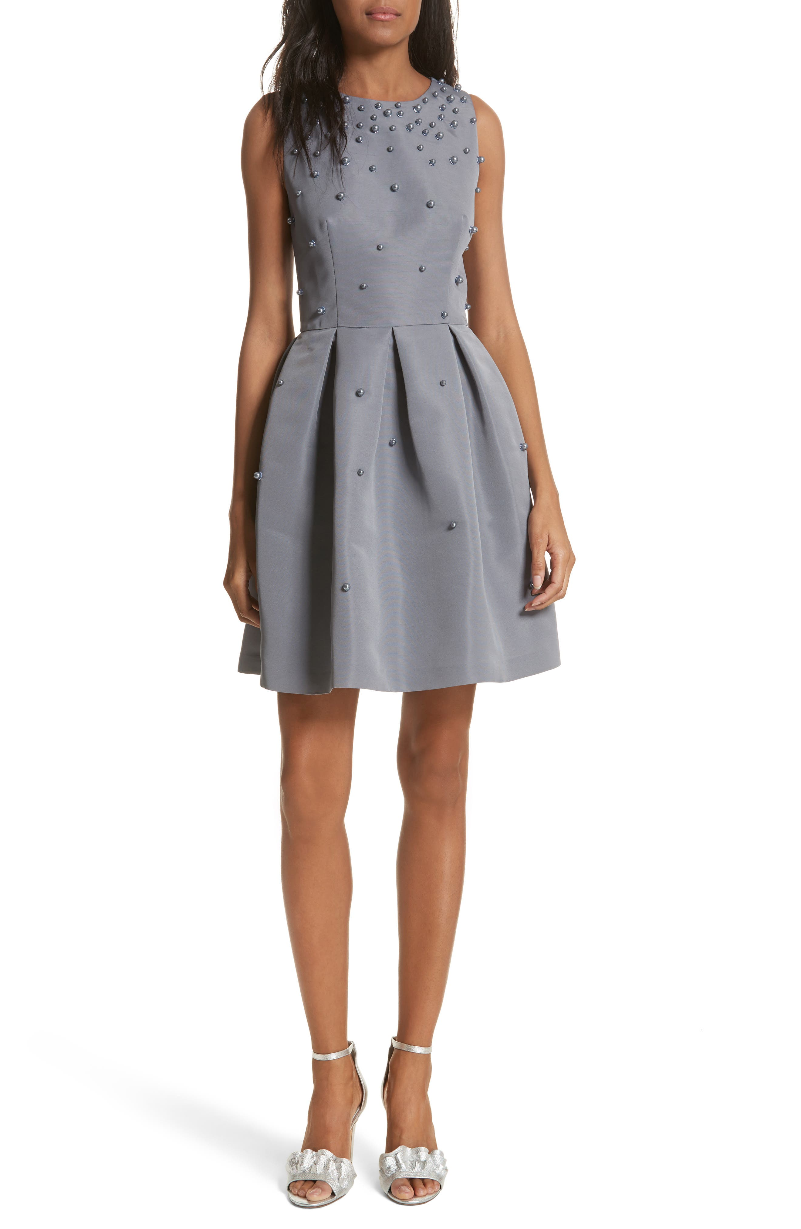 Embellished Skater Dress,                         Main,                         color,