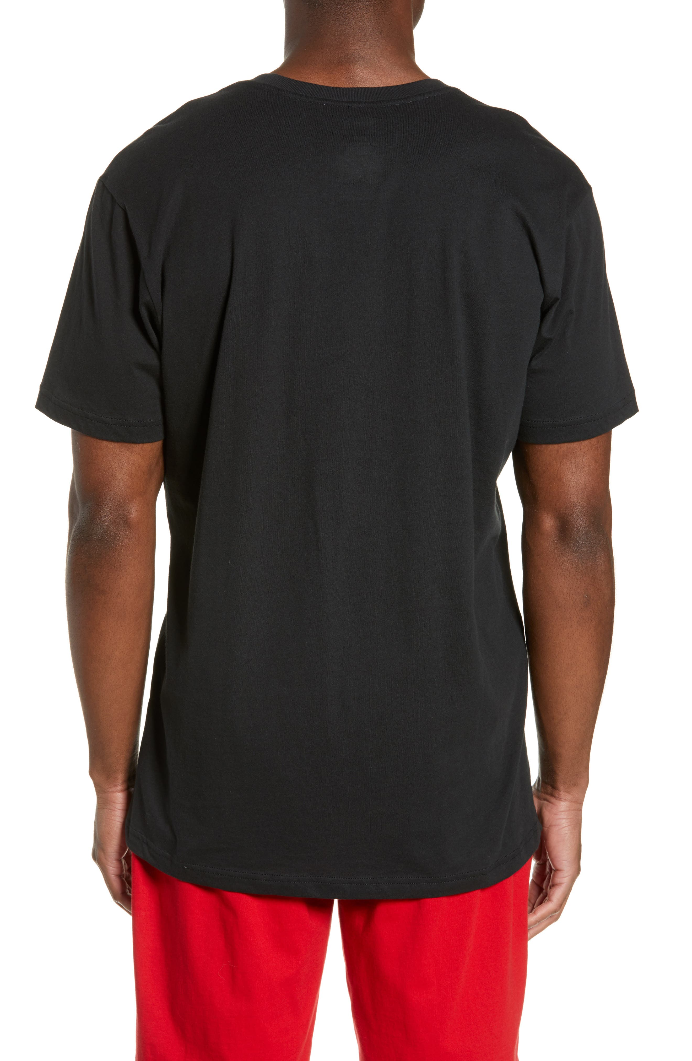 Enzyme Washed Crewneck T-Shirt,                             Alternate thumbnail 2, color,                             POLO BLACK