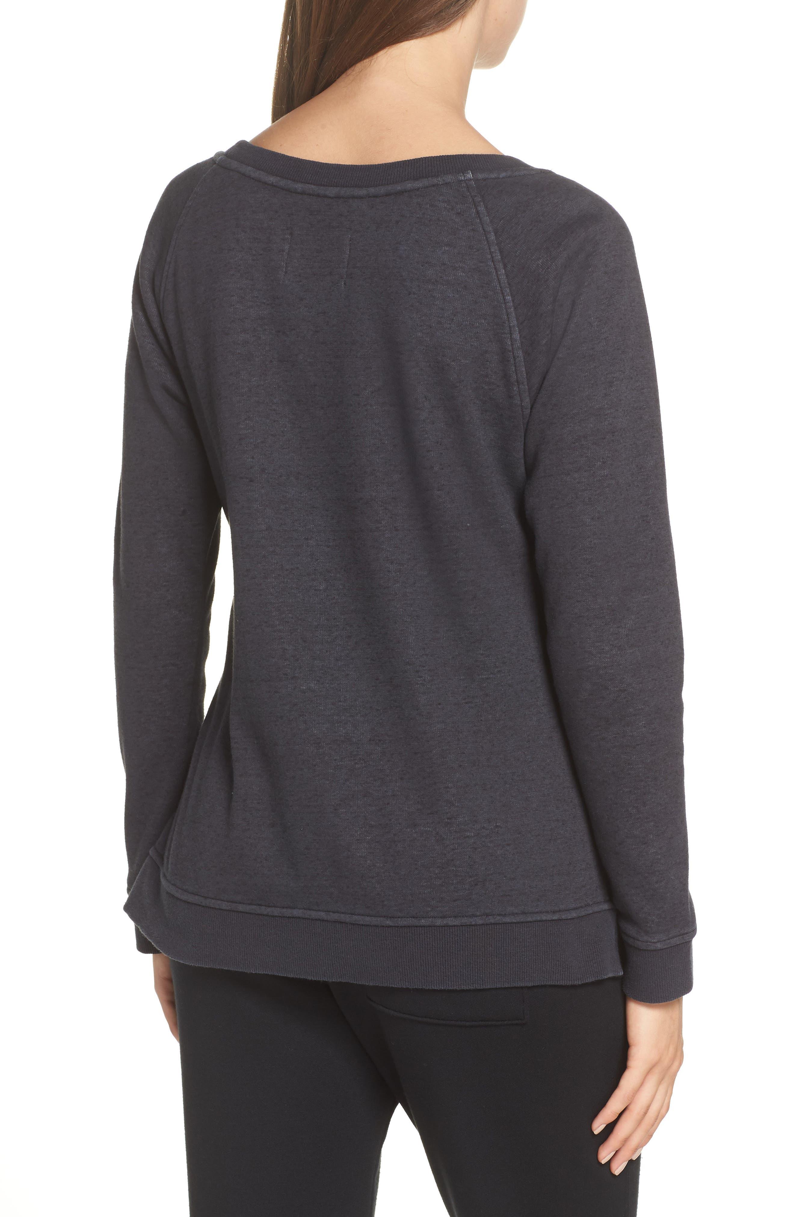 Morgan Sweatshirt,                             Alternate thumbnail 2, color,                             BLACK HEATHER